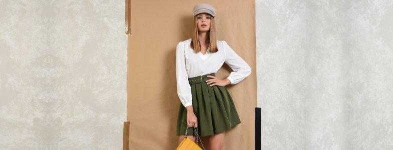 Rochii vaporoase, topuri si bluze casual sau elegante, pantaloni si fuste office sau casual