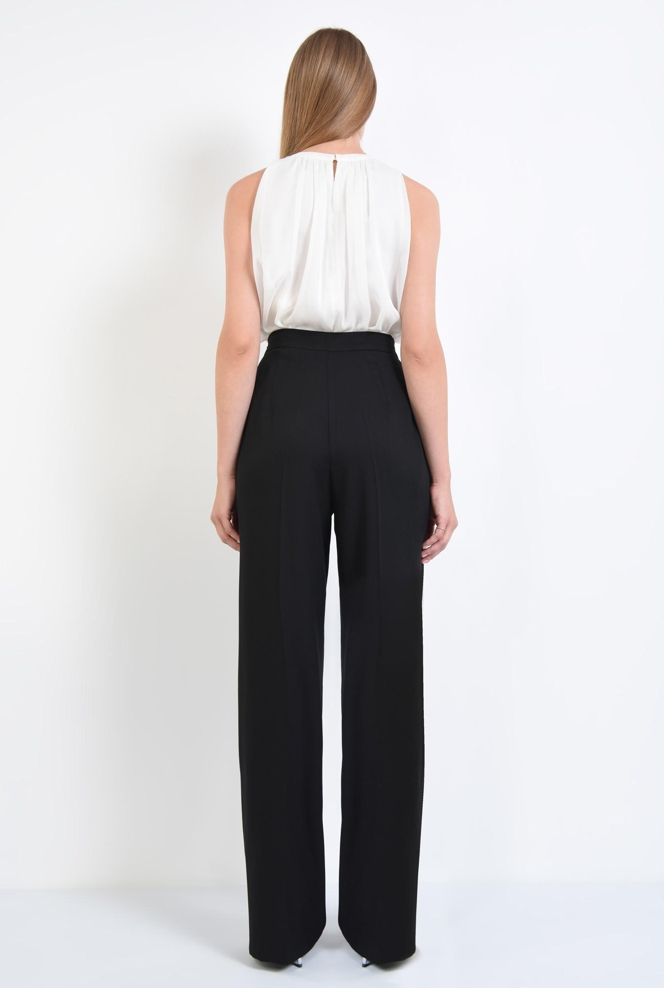 1 - bluza eleganta, din sifon, cu funda, strasuri, alb