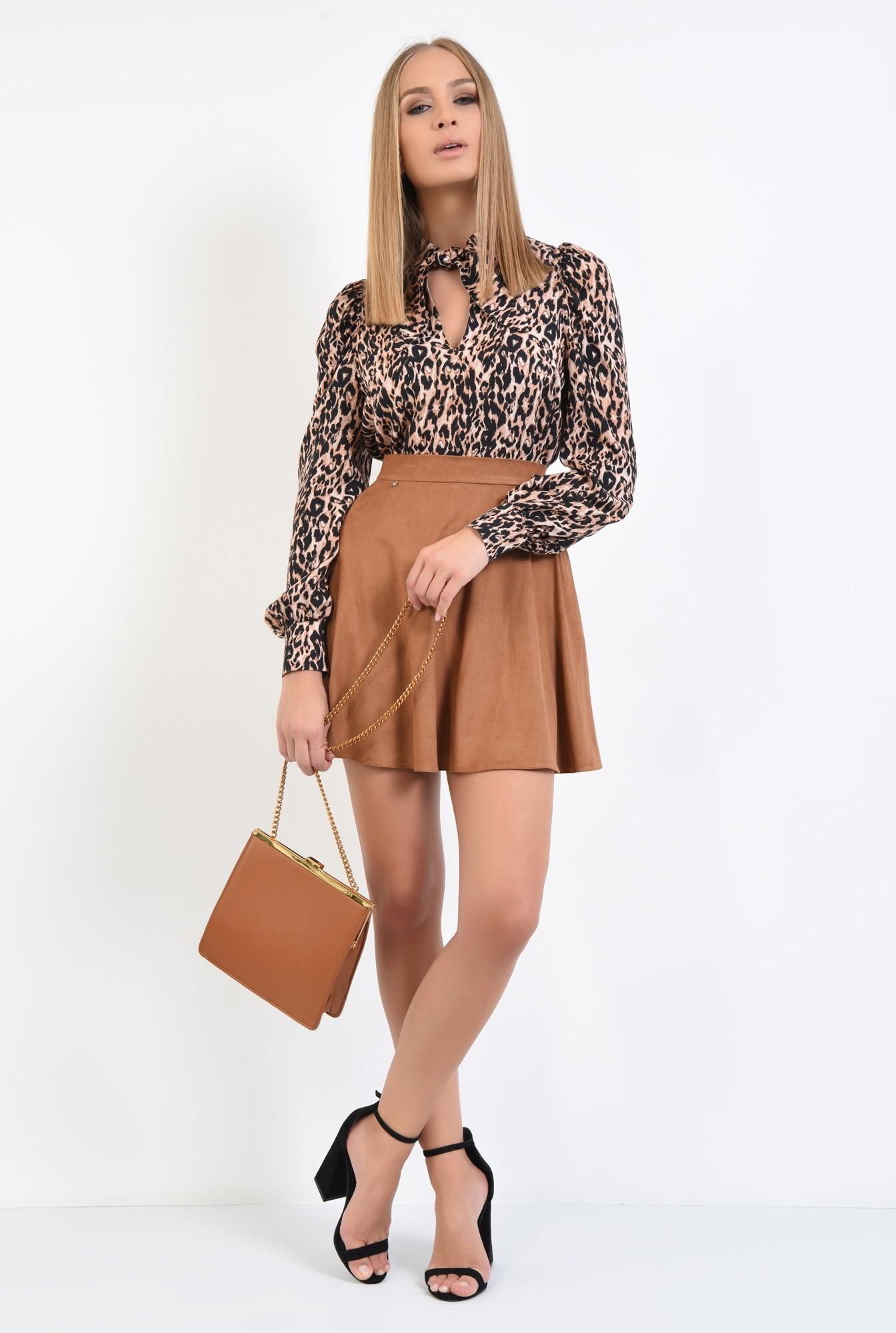 3 - bluza animal print, leopard, imprimeu, maneci lungi