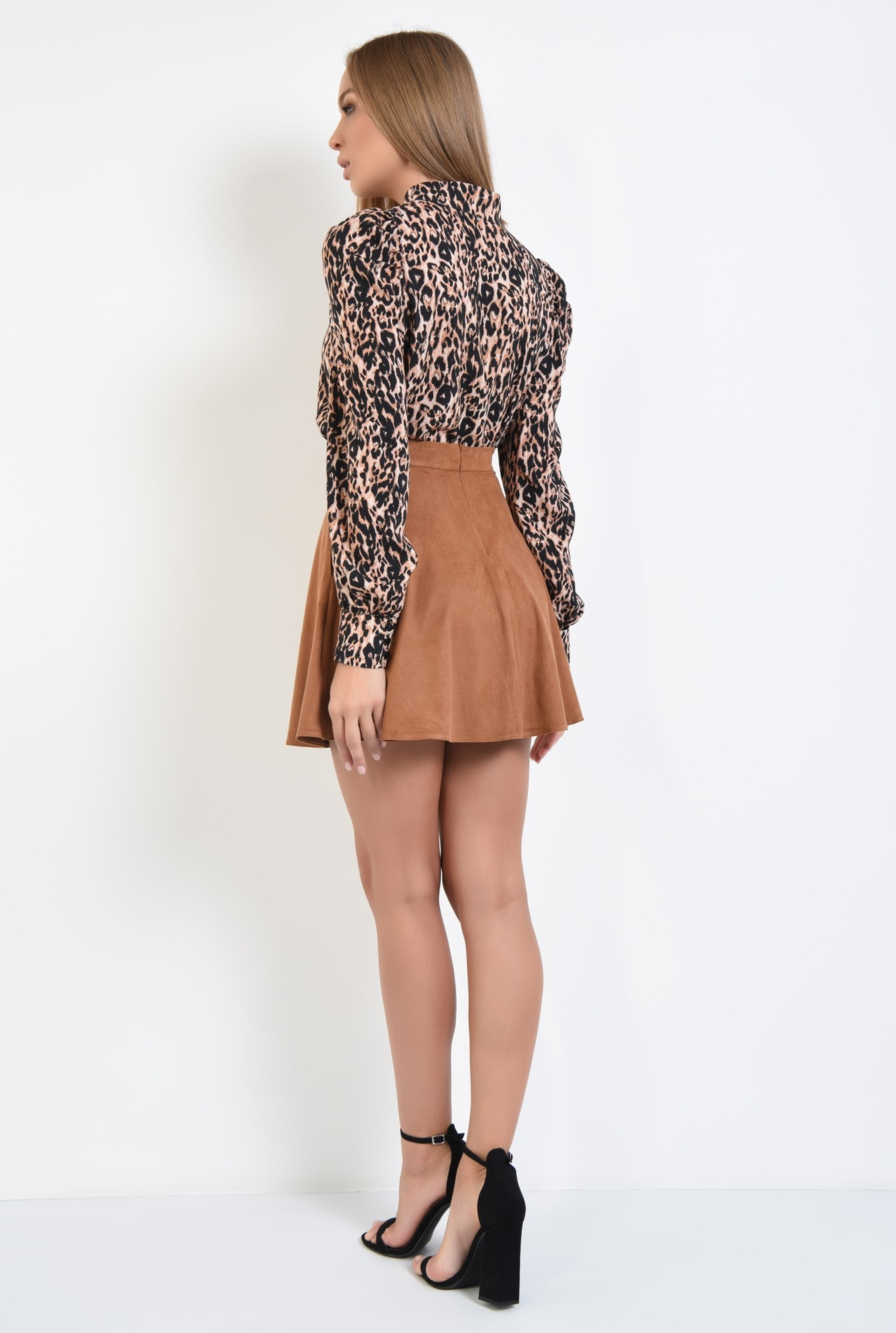 1 - bluza animal print, leopard, imprimeu, maneci lungi