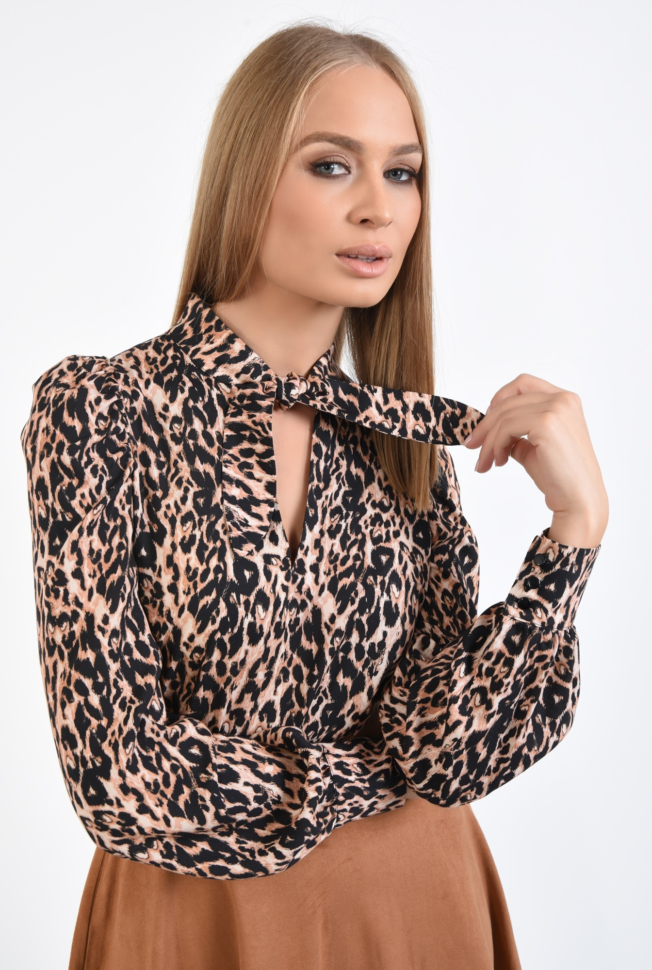 2 - bluza animal print, leopard, imprimeu, maneci lungi