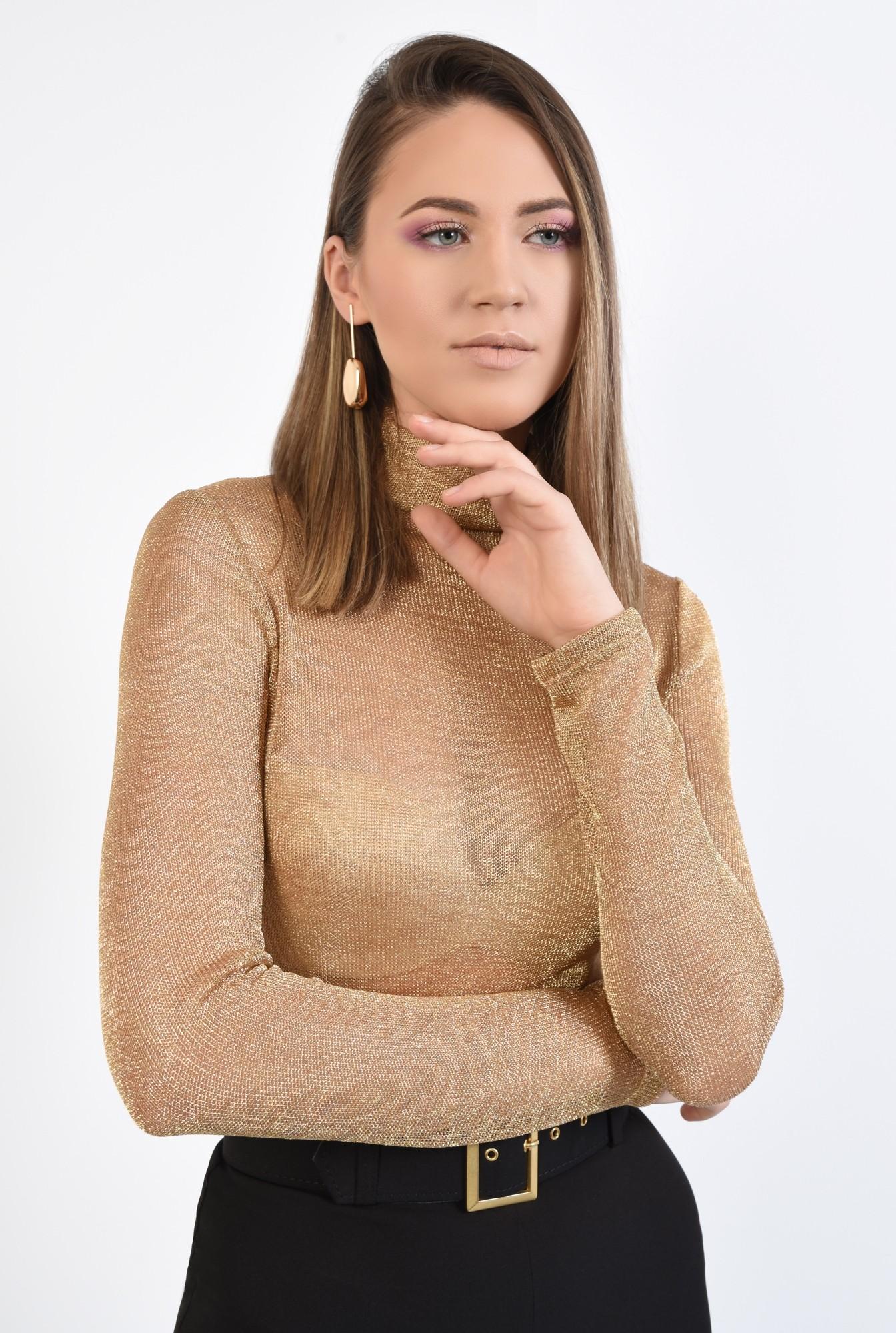 2 - 360 - bluza de ocazie, maleta eleganta, auriu, cu lurex