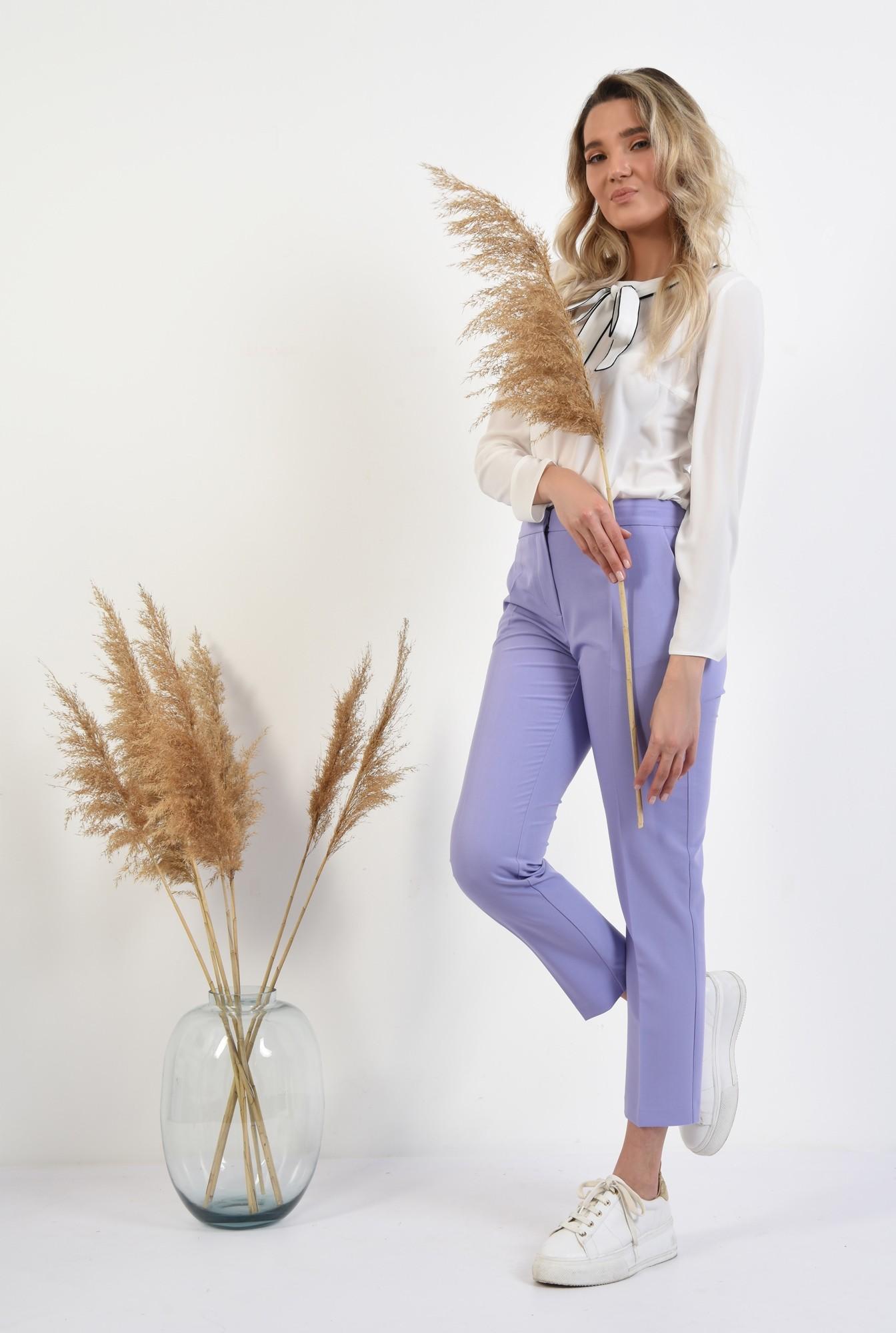 3 - bluza office, maneci lungi, funda cu borduri contrastante, alb, bluza de primavara