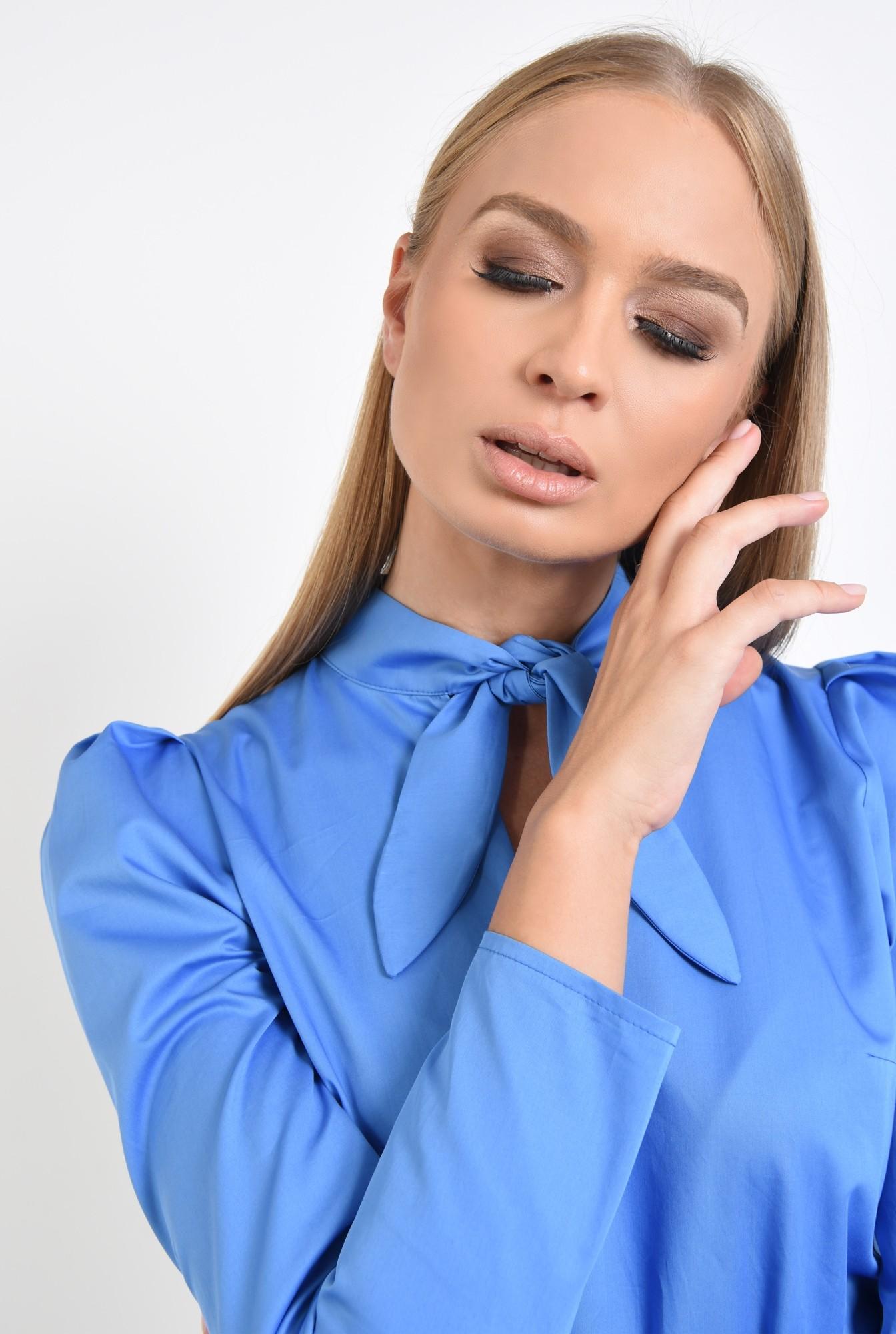 2 - 360 - bluza din bumbac, albastra, maneci lungi