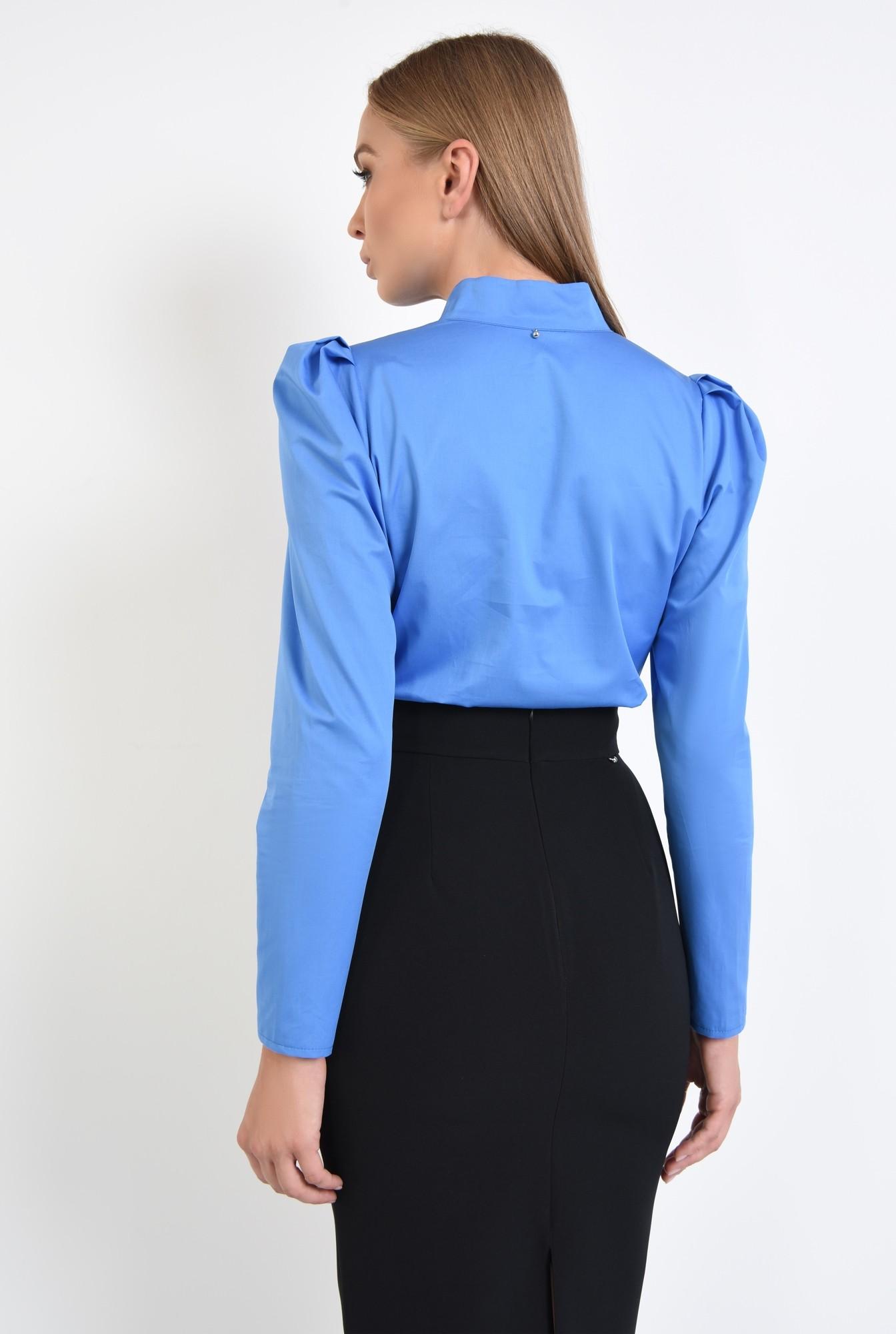 1 - 360 - bluza din bumbac, albastra, maneci lungi