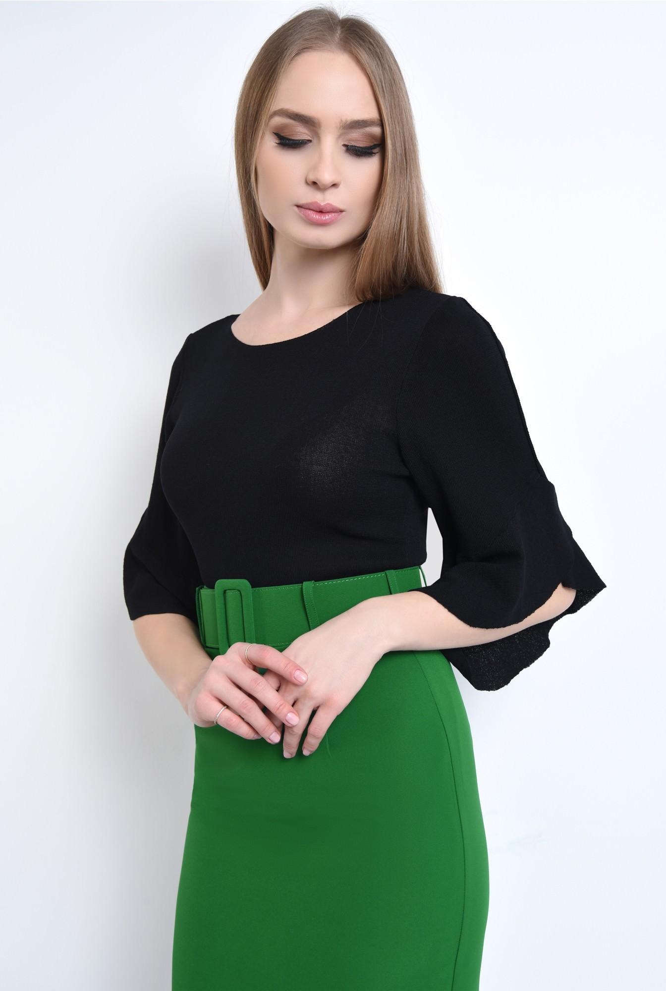 2 - Bluza casual, negru, tricot
