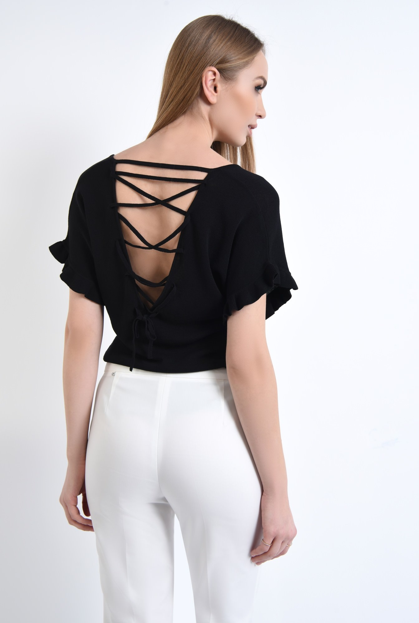 1 - Bluza casual, tricotaj, negru