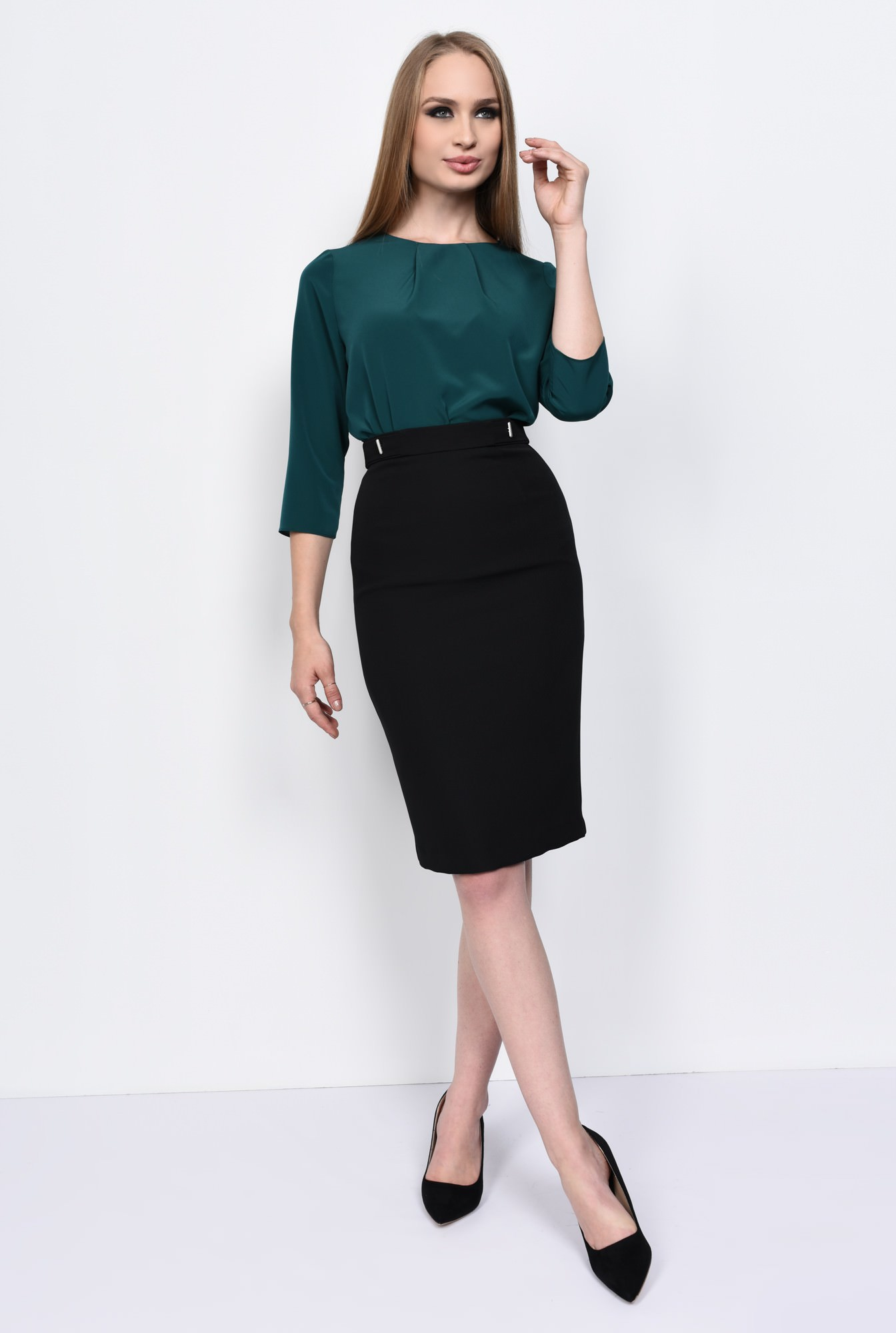 3 - BLUZA OFFICE BL 151-VERDE