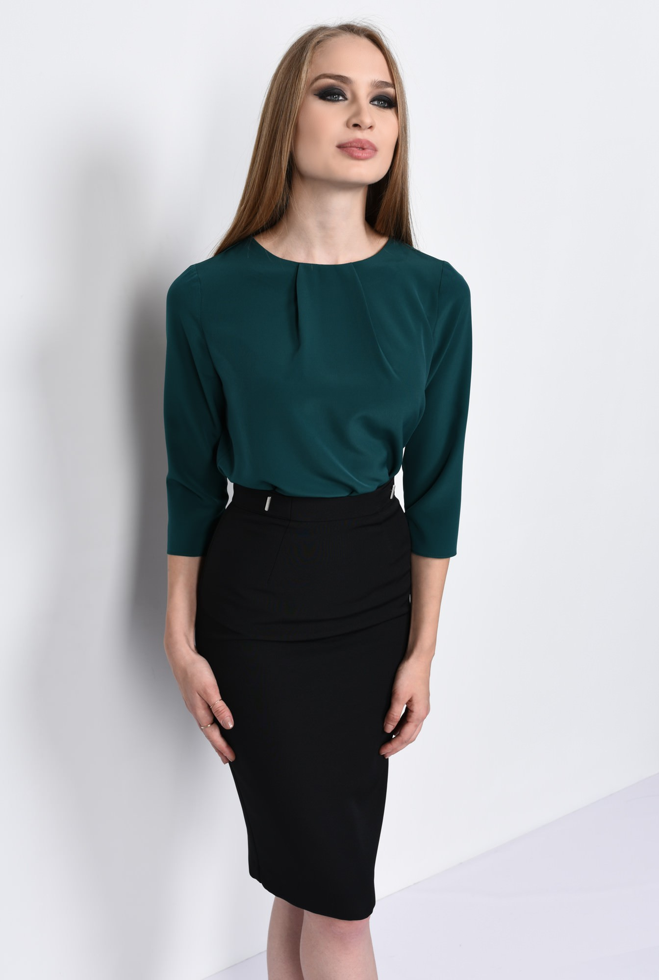 0 - BLUZA OFFICE BL 151-VERDE