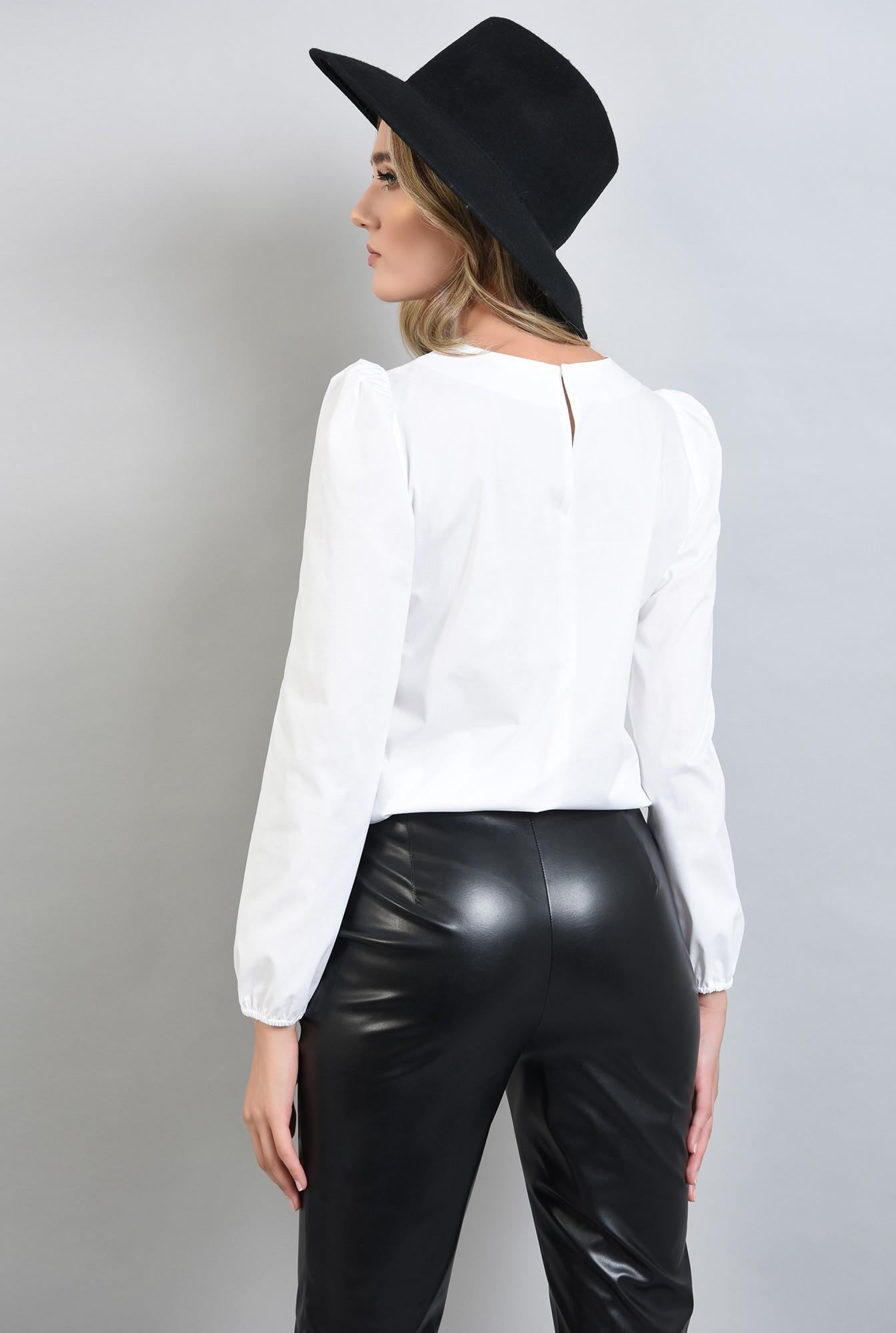 1 - bluza casual, cu funde, cu maneca lunga