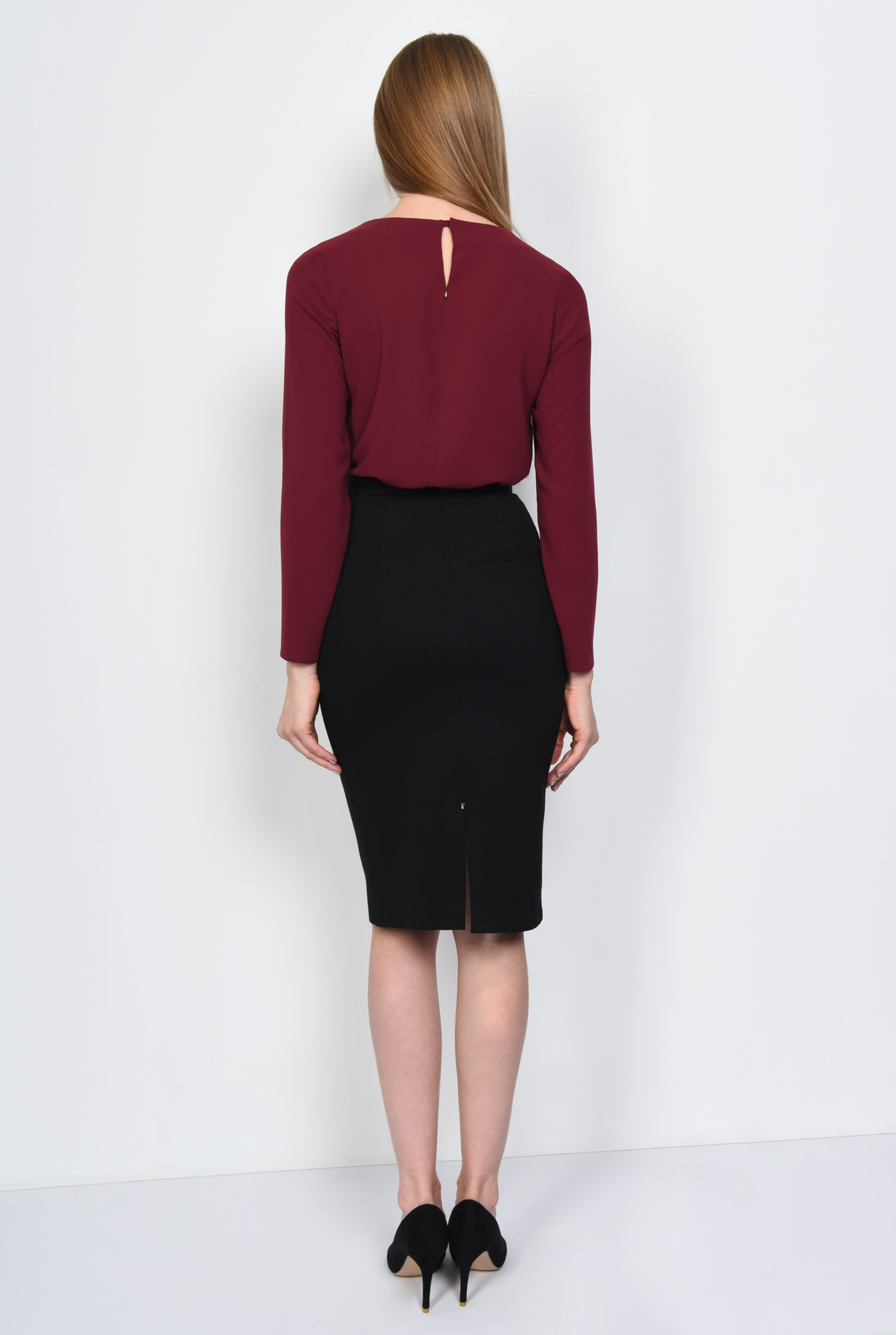1 - BLUZA OFFICE DREAPTA BL 162-BURGUNDY