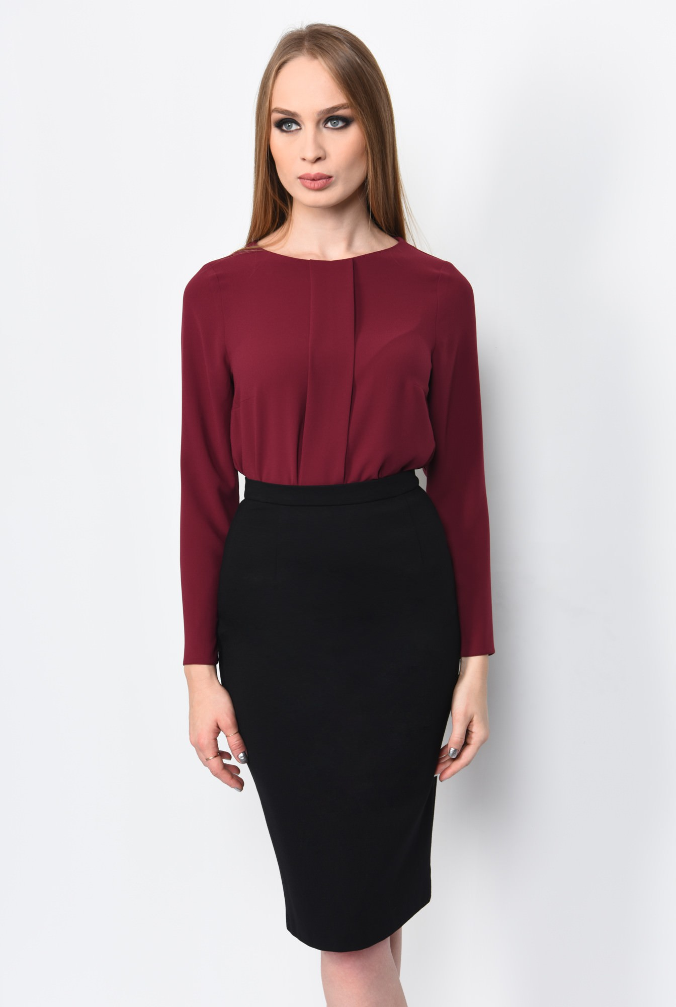 0 - BLUZA OFFICE DREAPTA BL 162-BURGUNDY