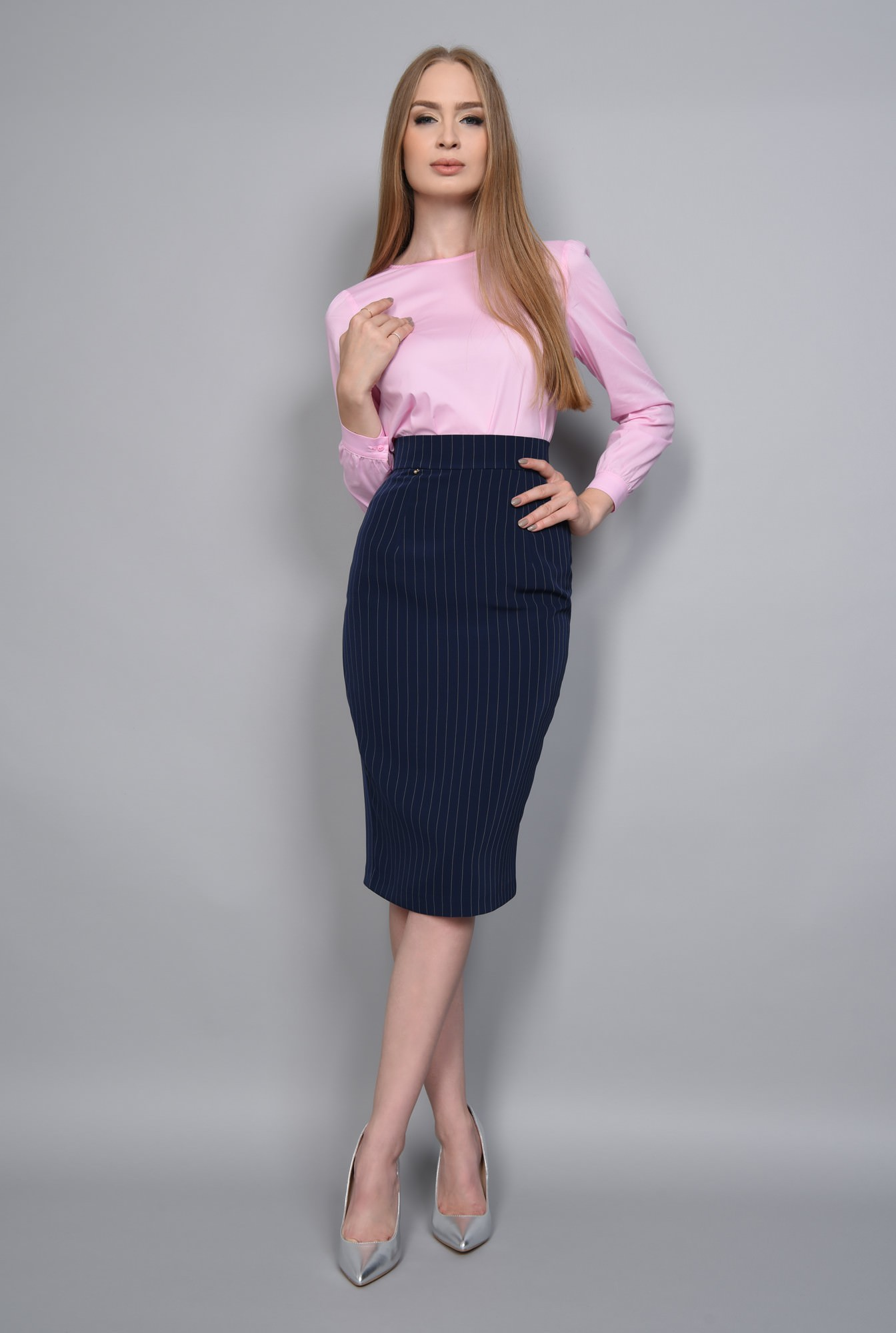 3 - BLUZA OFFICE BL 267-ROZ