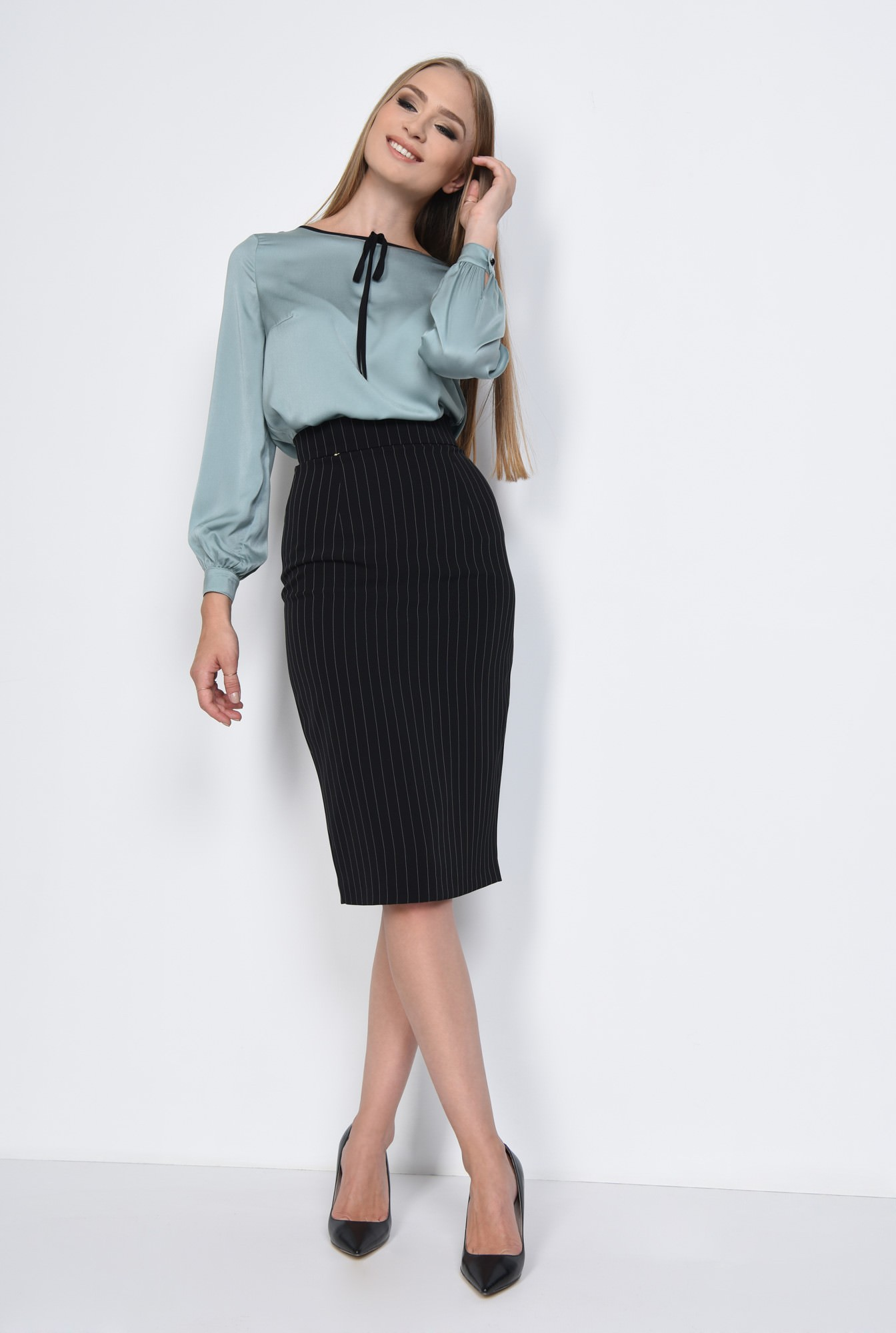 3 - BLUZA OFFICE BL 275-BLEU
