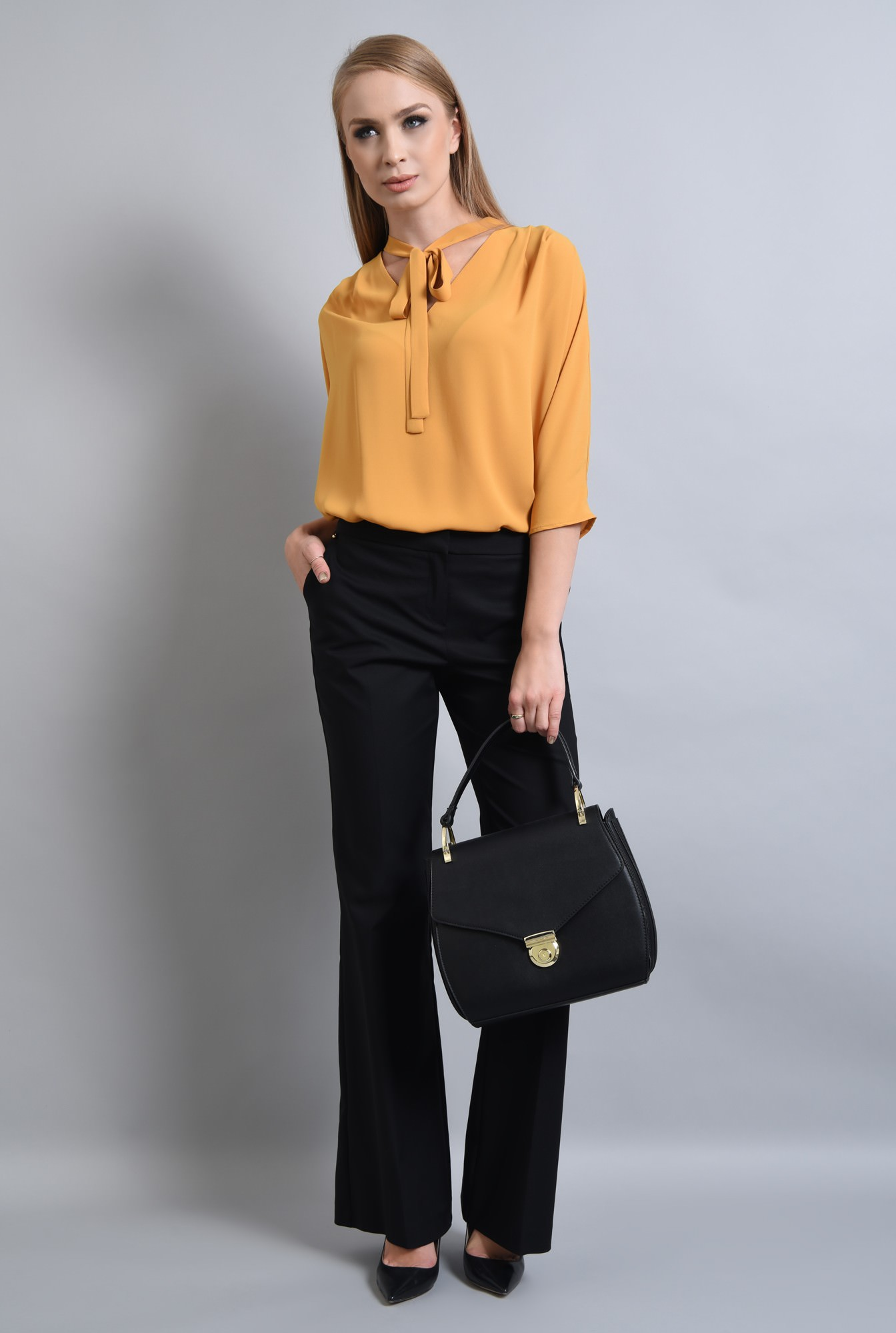 3 - BLUZA OFFICE BL 291-MUSTAR