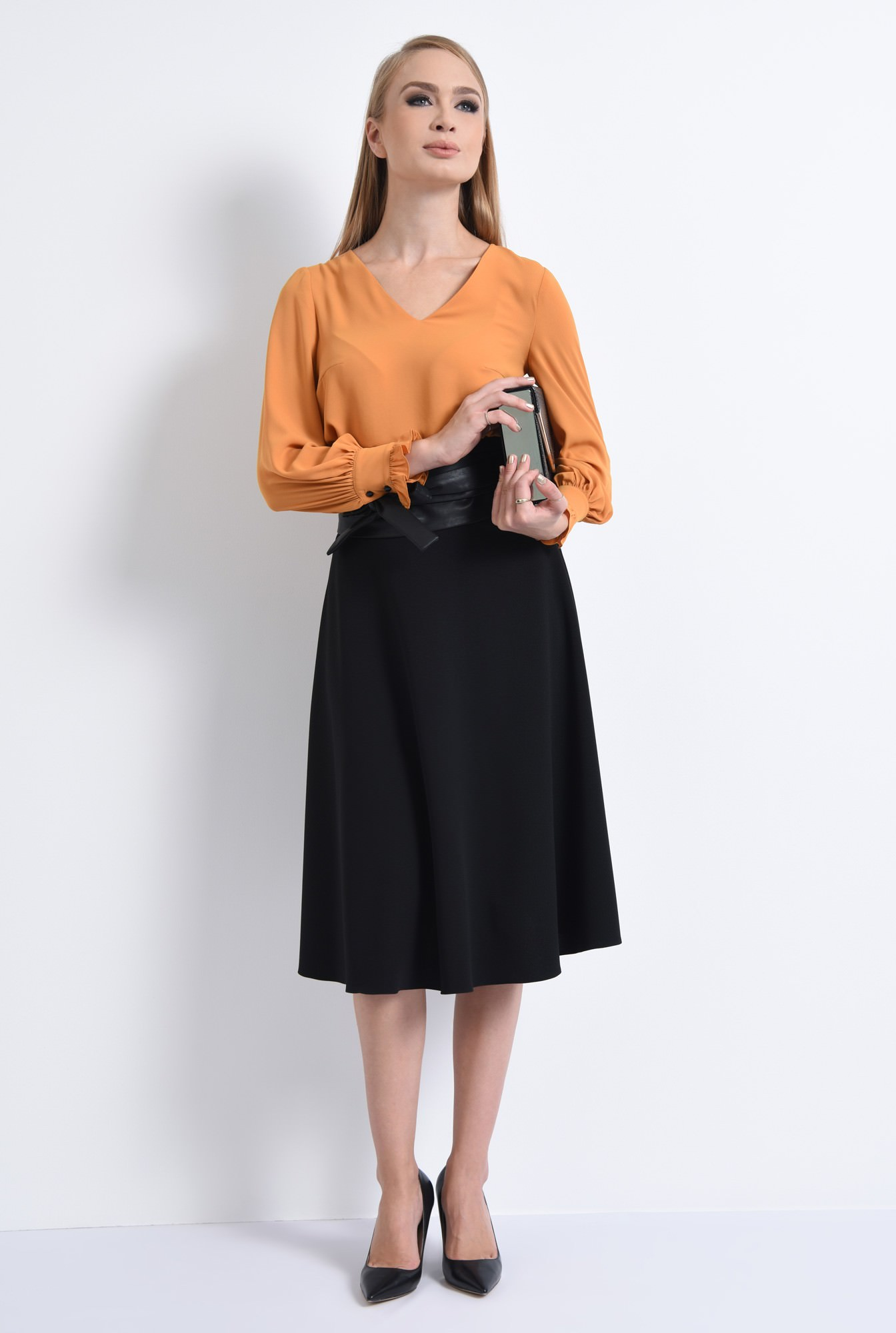 3 - BLUZA OFFICE BL 292-MUSTAR