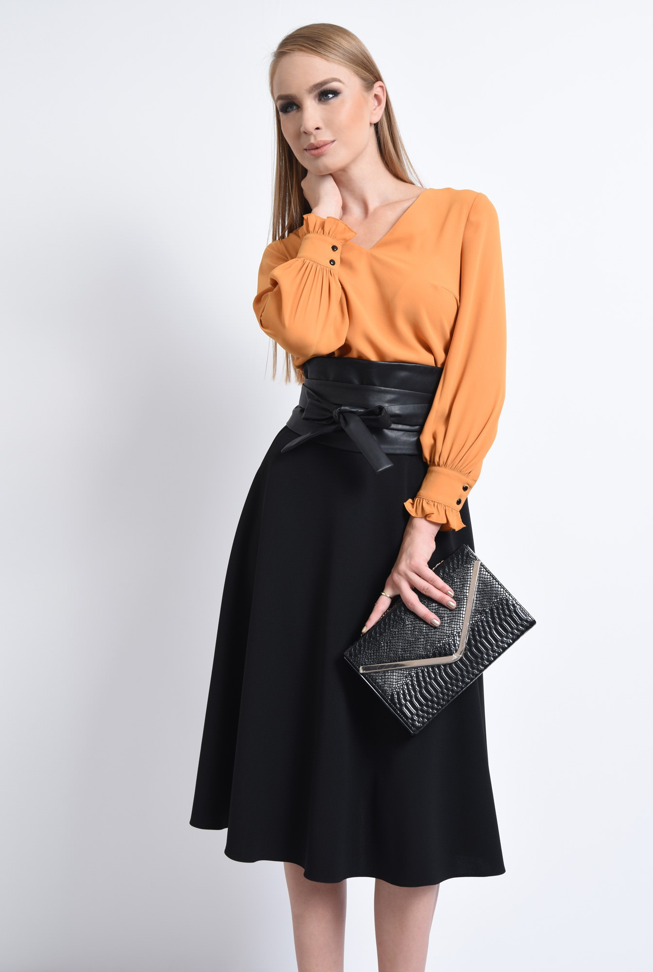 0 - BLUZA OFFICE BL 292-MUSTAR