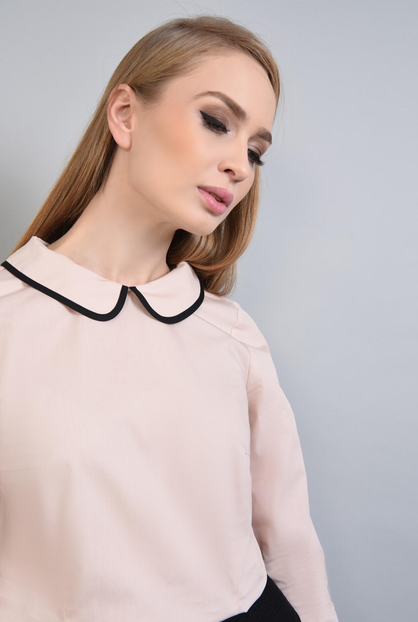 2 - Bluza casual, negru, butoniera
