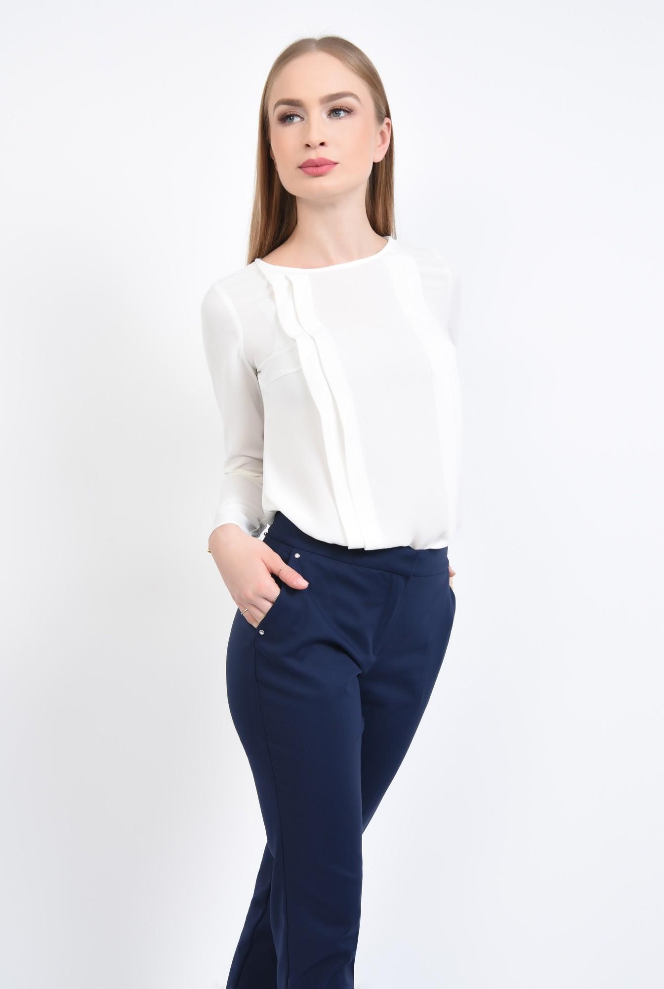 0 - Bluza eleganta, pliseuri