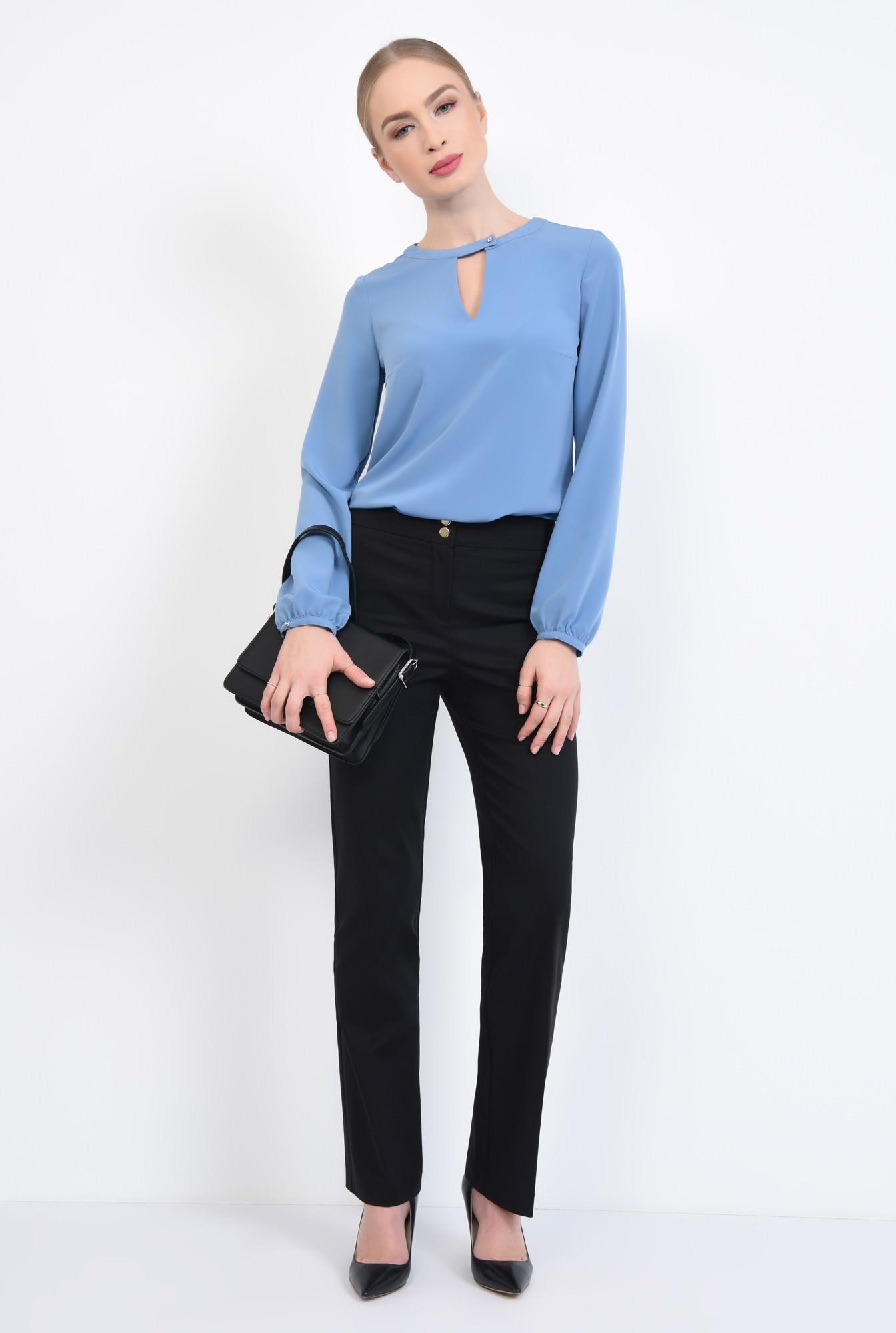 3 - 360 - Bluza casual, bleu, maneci lungi