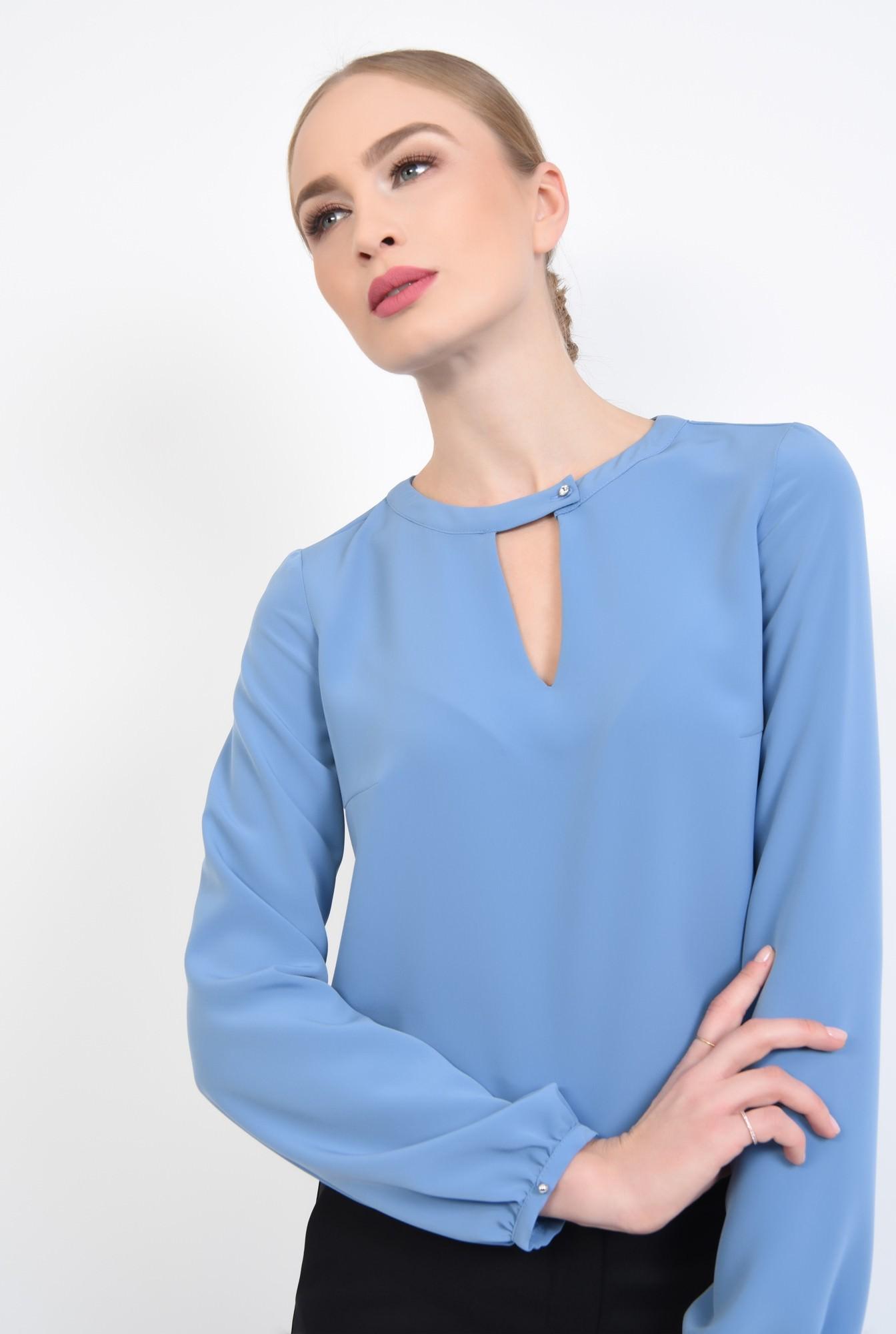 2 - 360 - Bluza casual, bleu, maneci lungi
