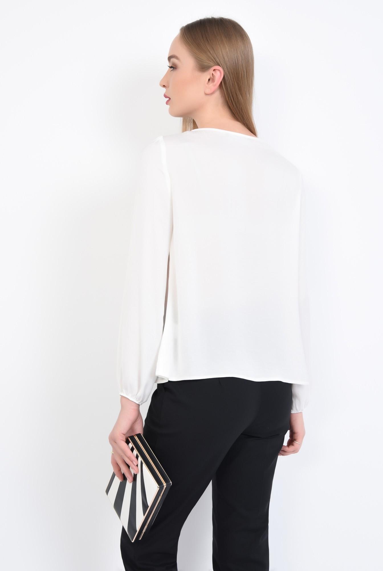 1 - Bluza eleganta, vaporoasa, decolteu rotund