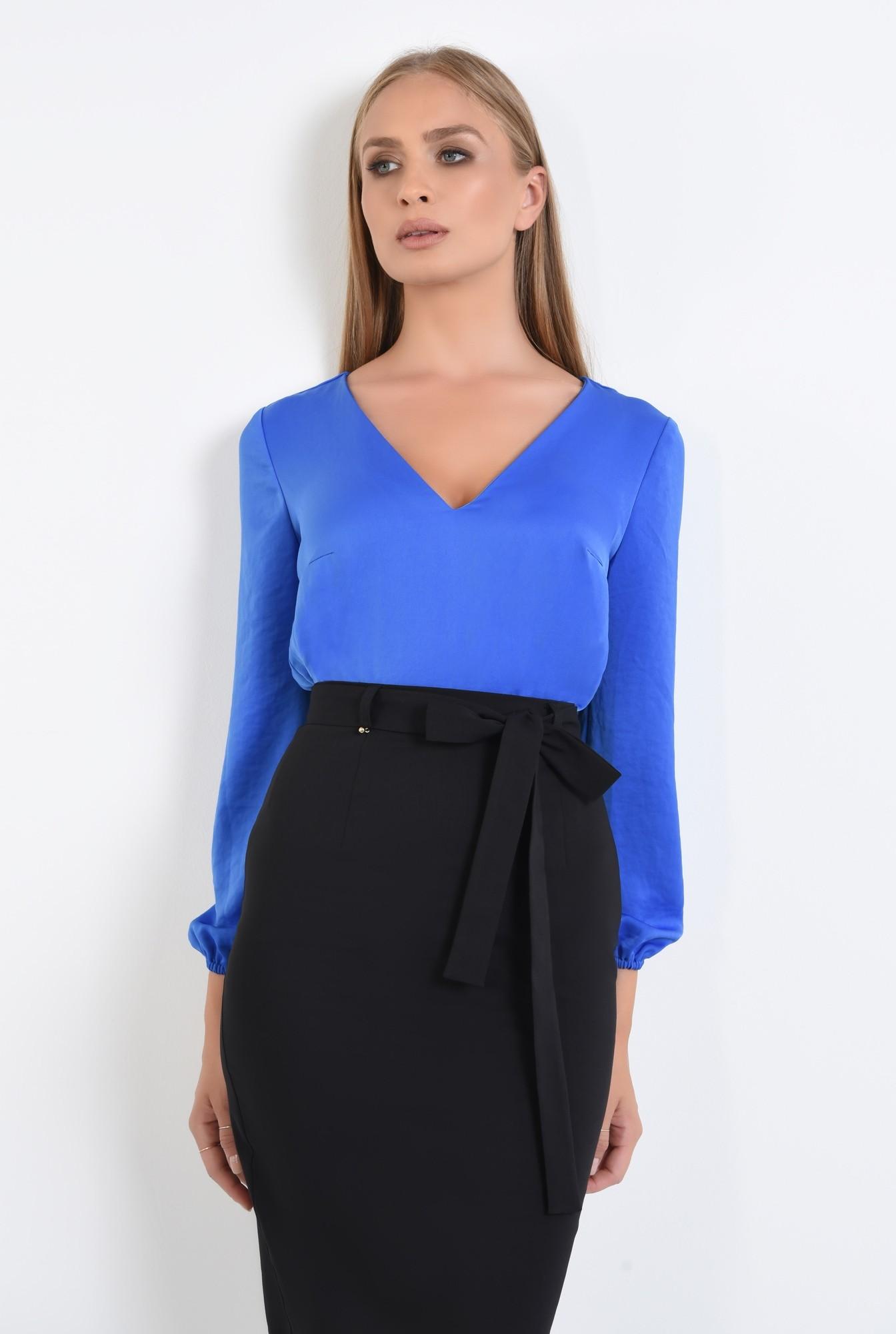 3 - bluza office cu anchior, tesatura satinata, bluze online