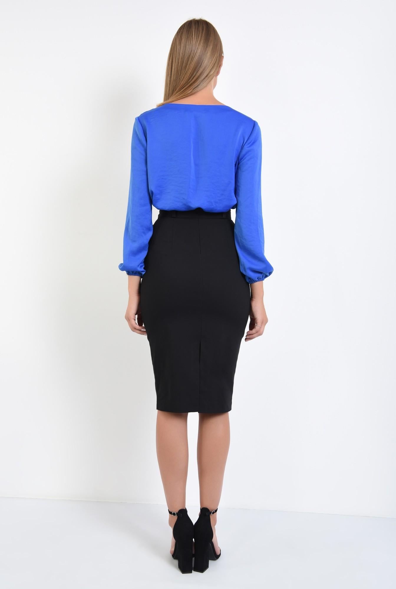 1 - bluza office cu anchior, tesatura satinata, bluze online