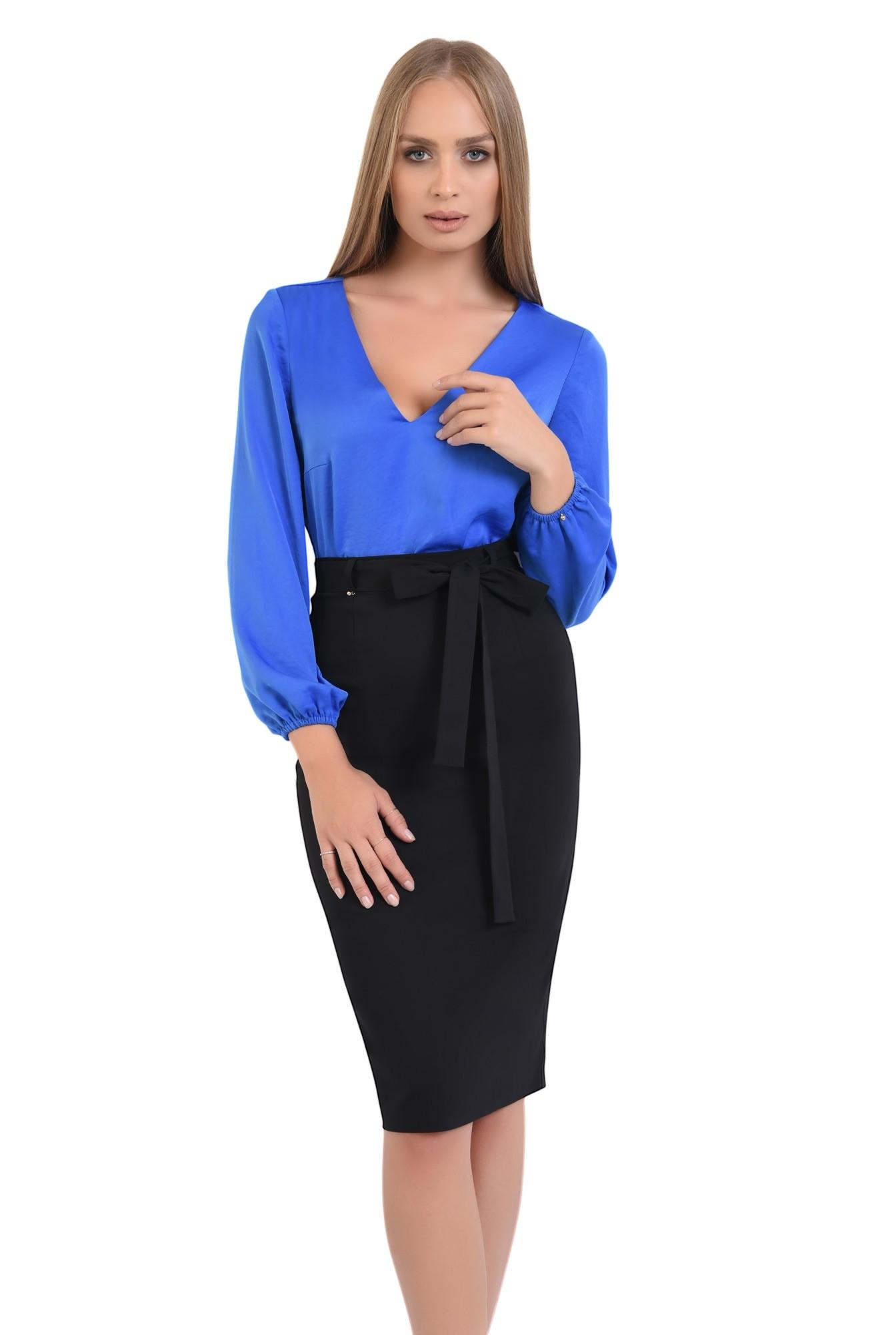 0 - bluza office cu anchior, tesatura satinata, bluze online