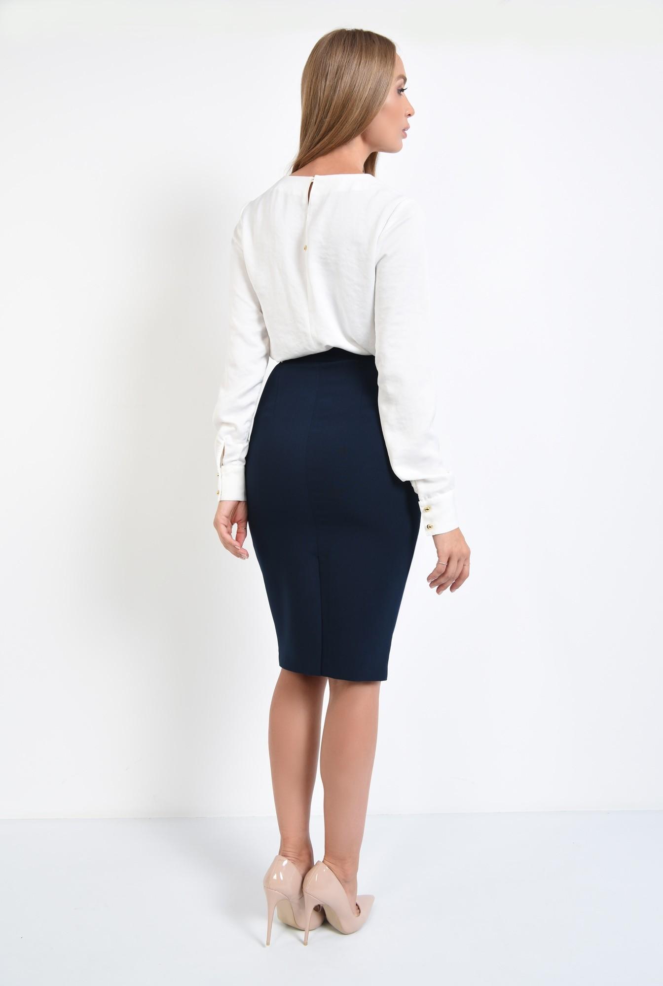1 - 360 - bluza casual, dreapta, lejera, nasturi decorativi metalici, bluze dama