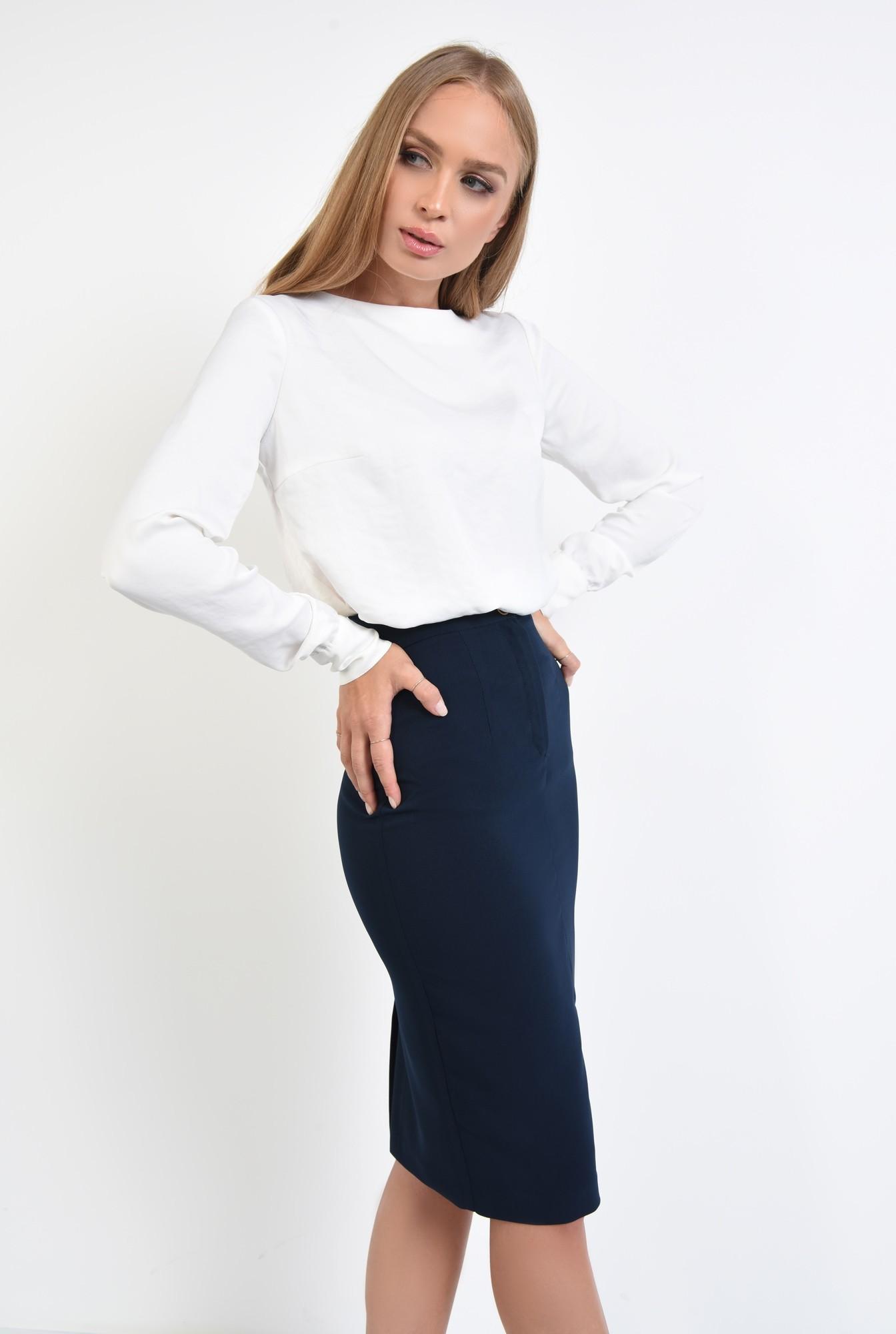 2 - 360 - bluza casual, dreapta, lejera, nasturi decorativi metalici, bluze dama