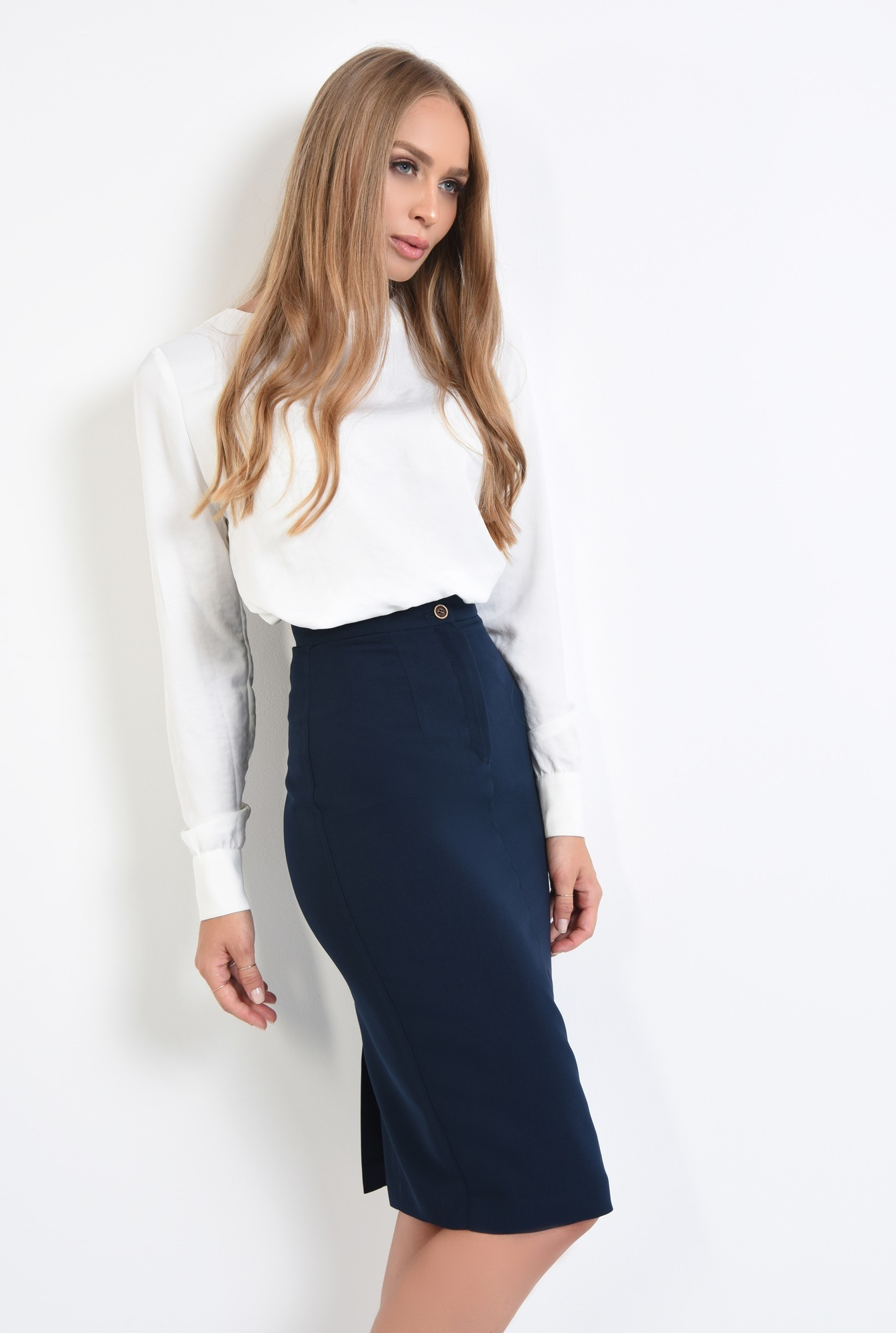 0 - 360 - bluza casual, dreapta, lejera, nasturi decorativi metalici, bluze dama