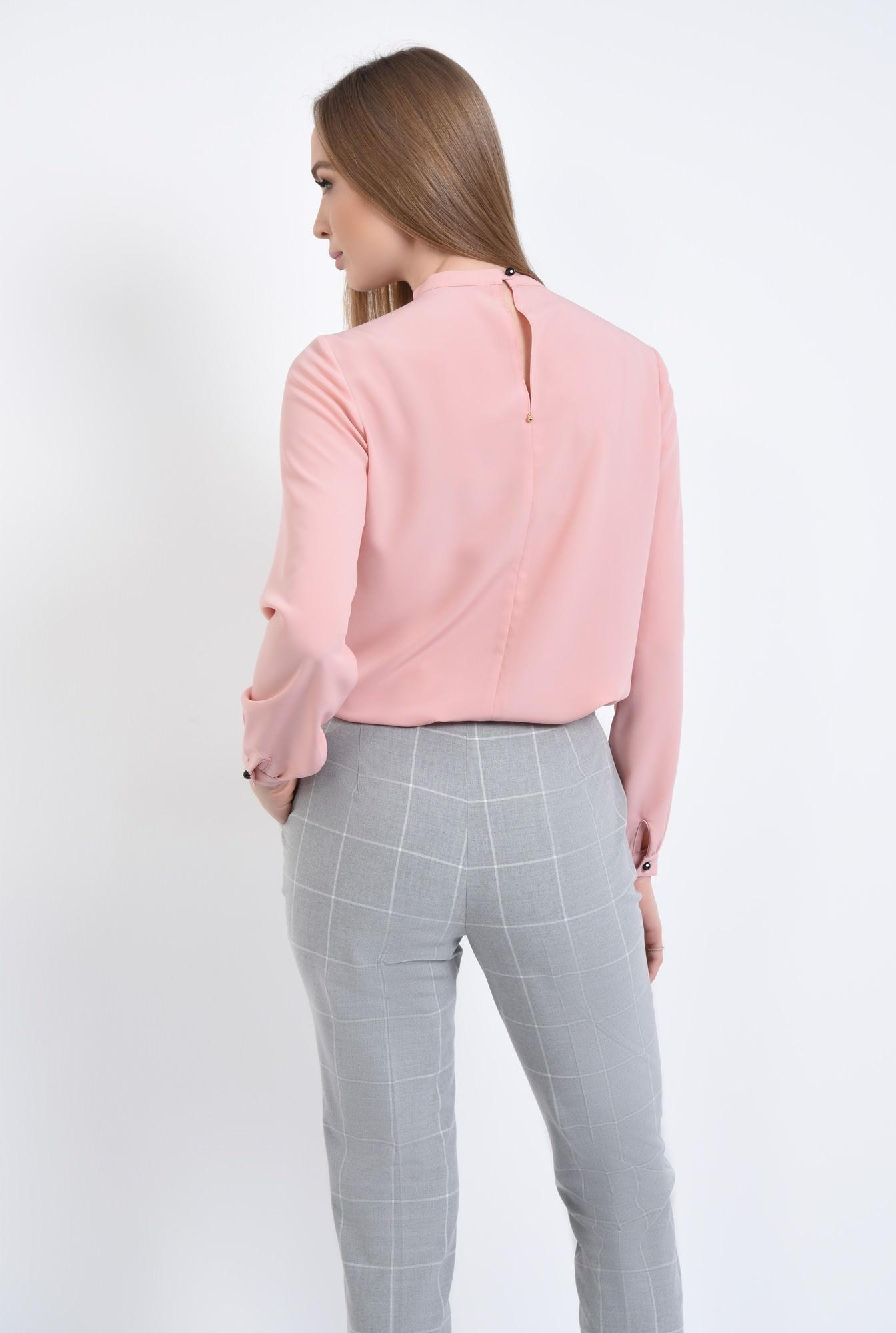 1 - bluza roz, maneci bufante, cu mansete