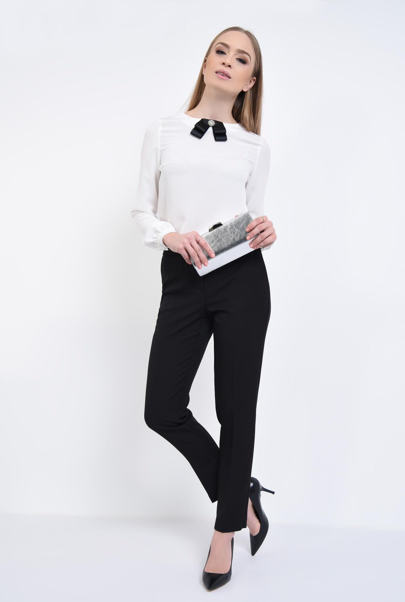 3 - Bluza eleganta, funda satin, contrast
