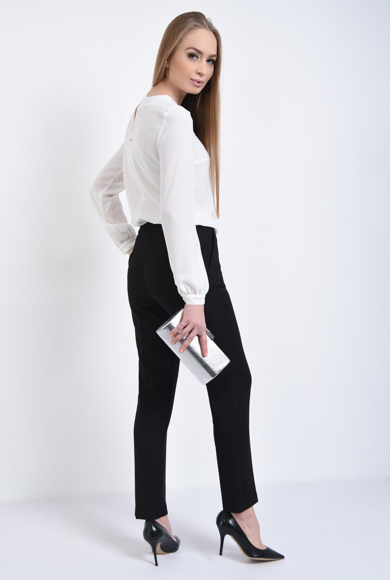 1 - Bluza eleganta, funda satin, contrast