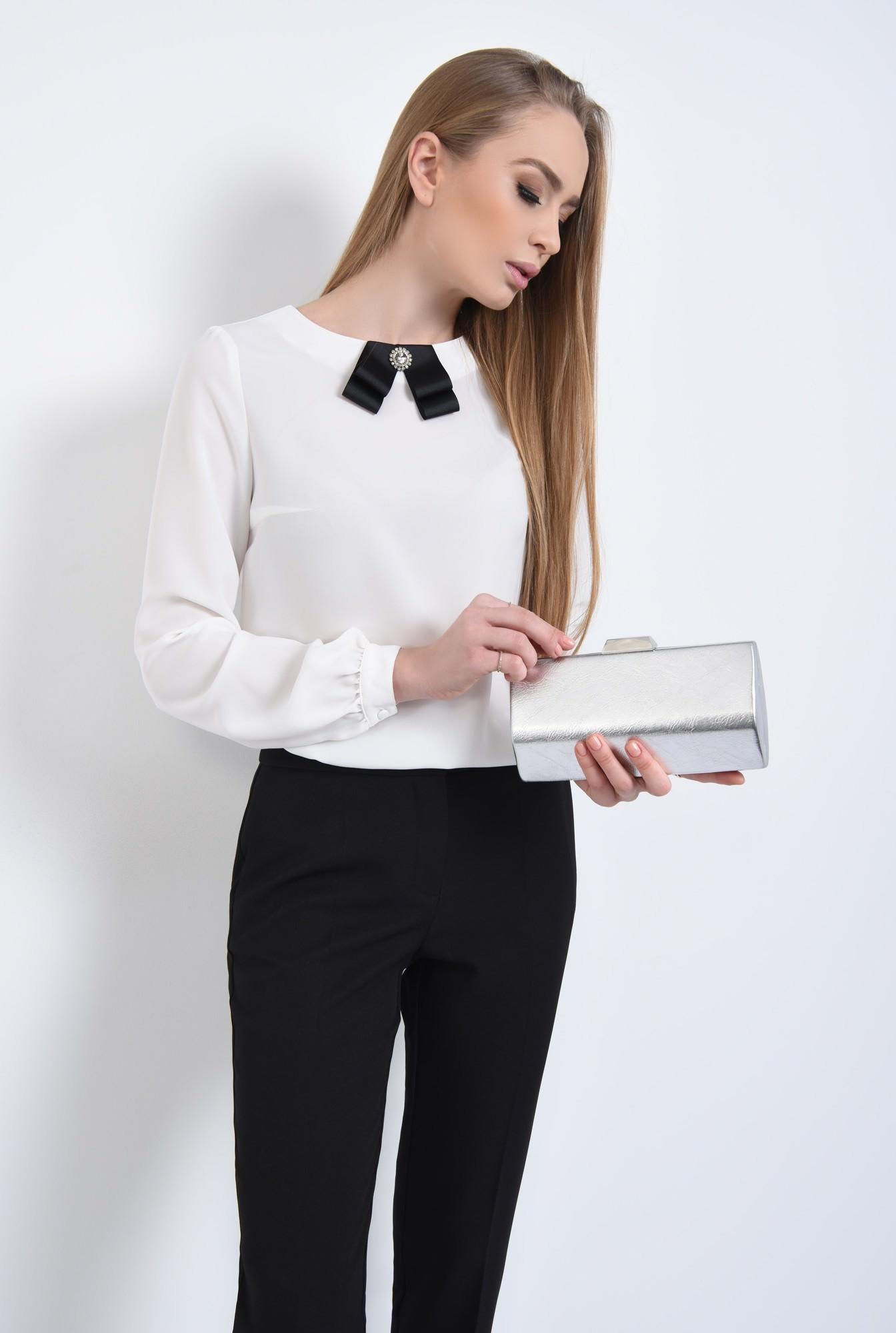 0 - Bluza eleganta, funda satin, contrast