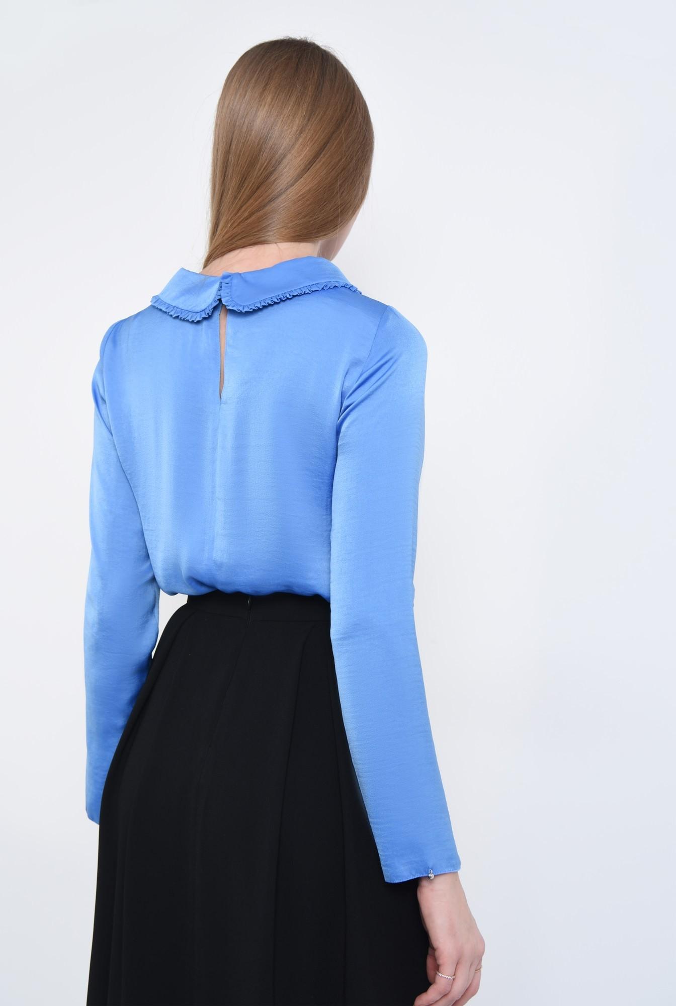 1 - bluza albastra, satin, funda