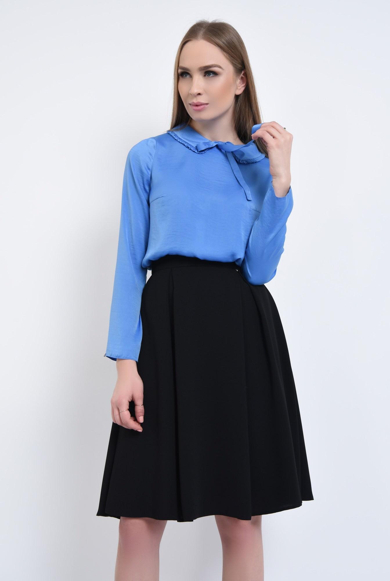 0 - bluza albastra, satin, funda
