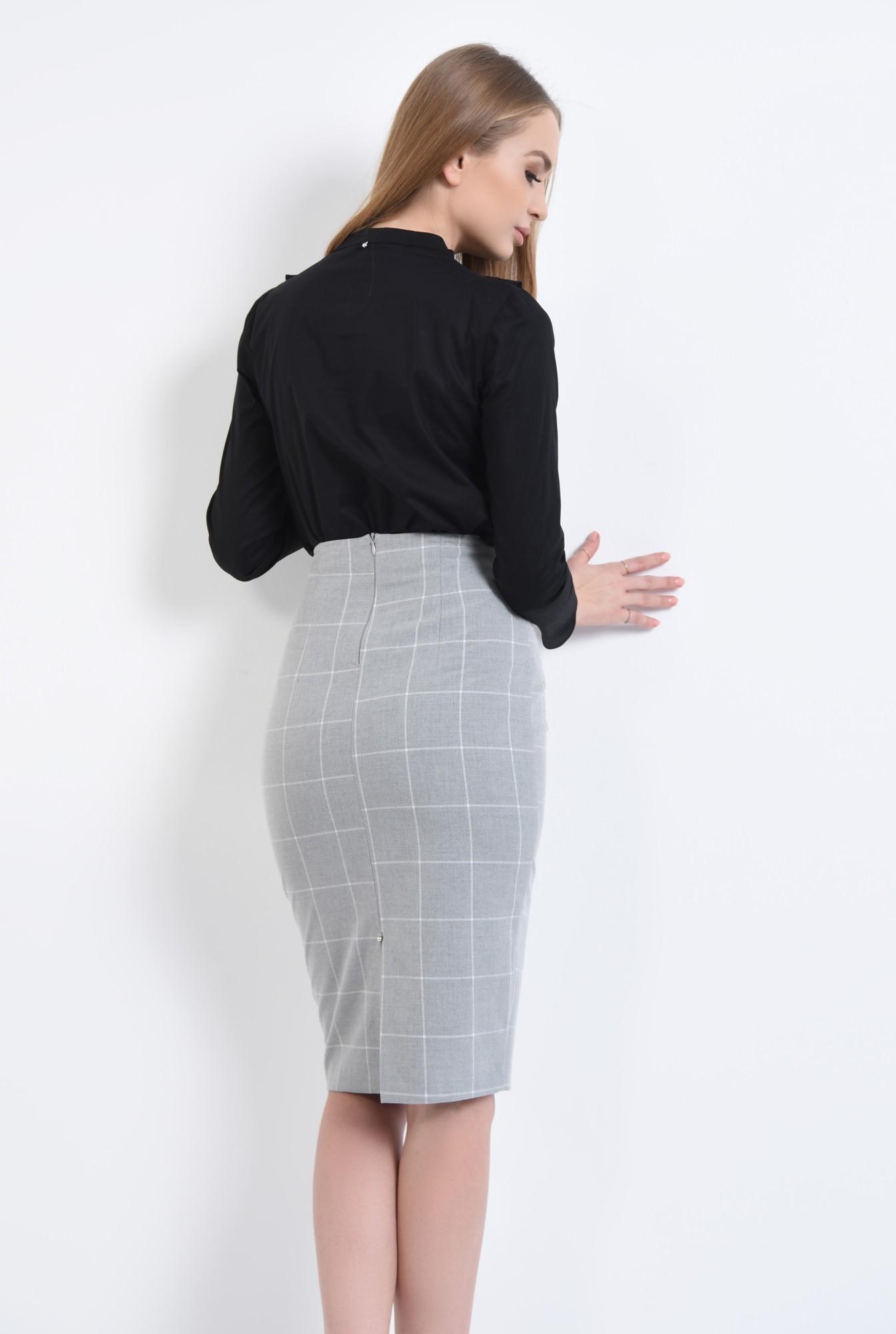 1 - Bluza casual, negru, bumbac