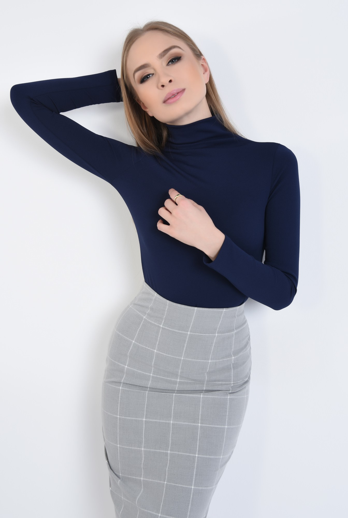 0 - 360 - Bluza casual stretch, elastan, helanca