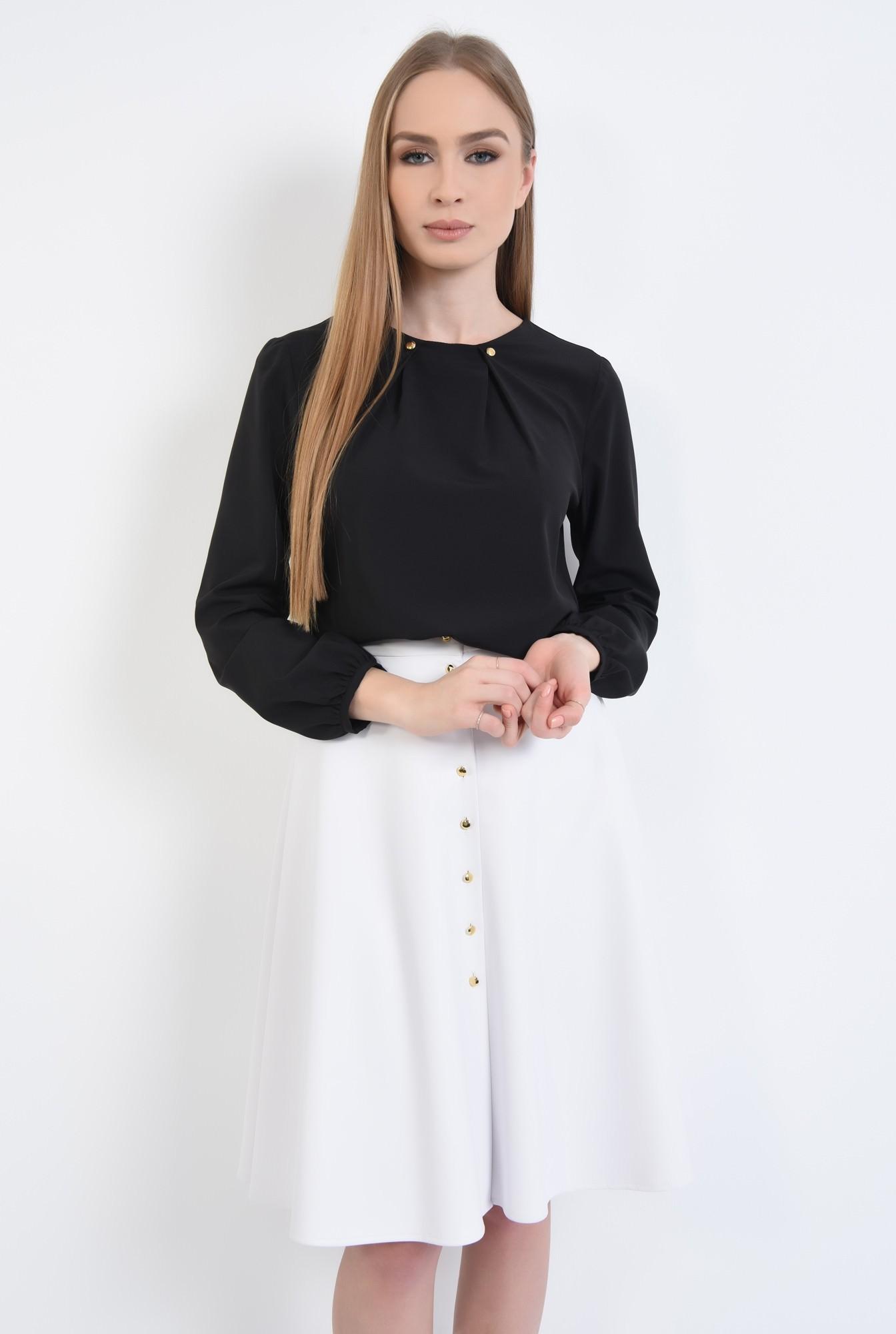 0 - Bluza eleganta, nasturi aurii, sifon