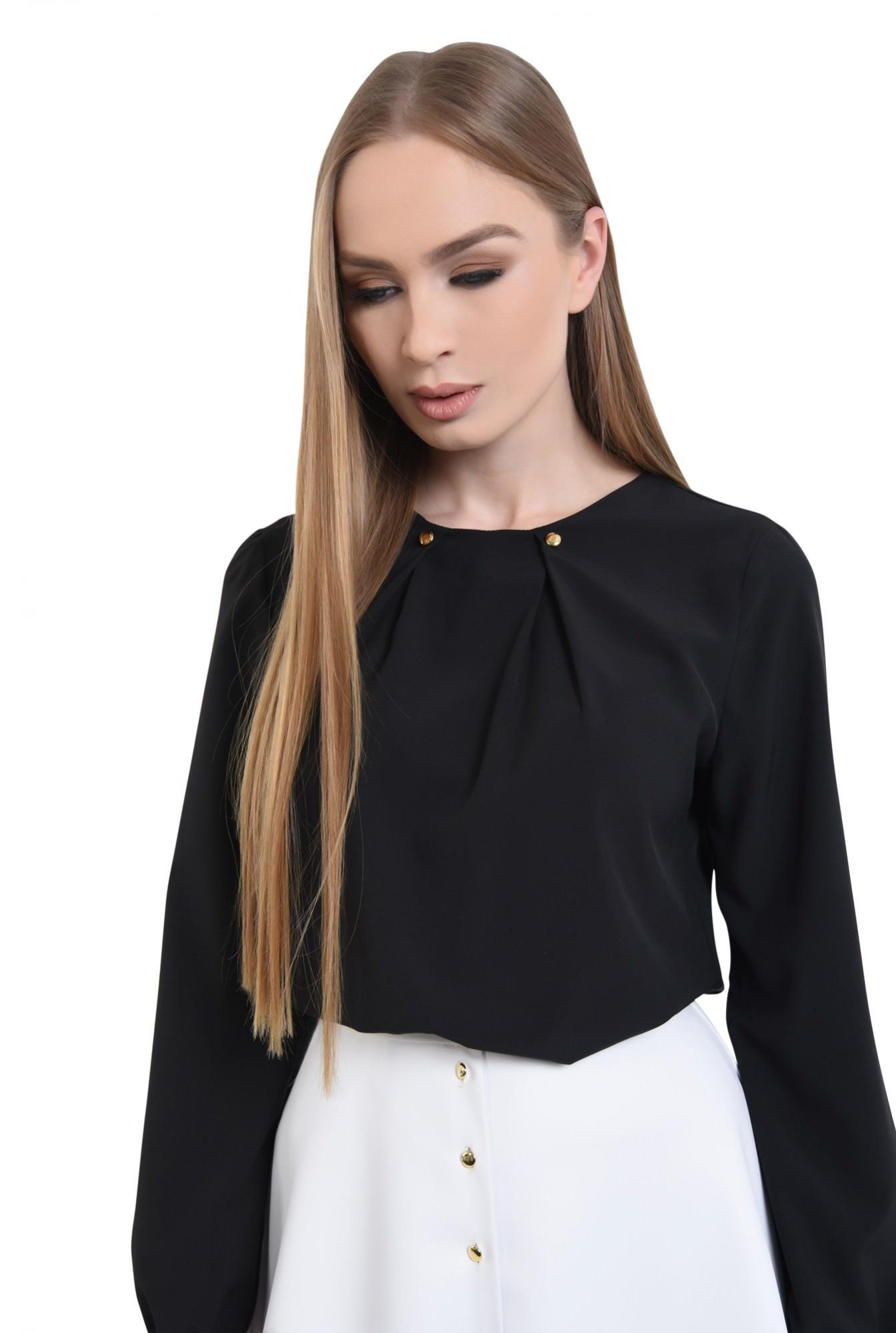 2 - Bluza eleganta, nasturi aurii, sifon