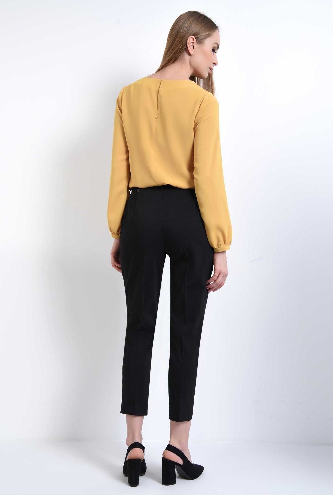 1 - Bluza casual, mustar, maneci lungi