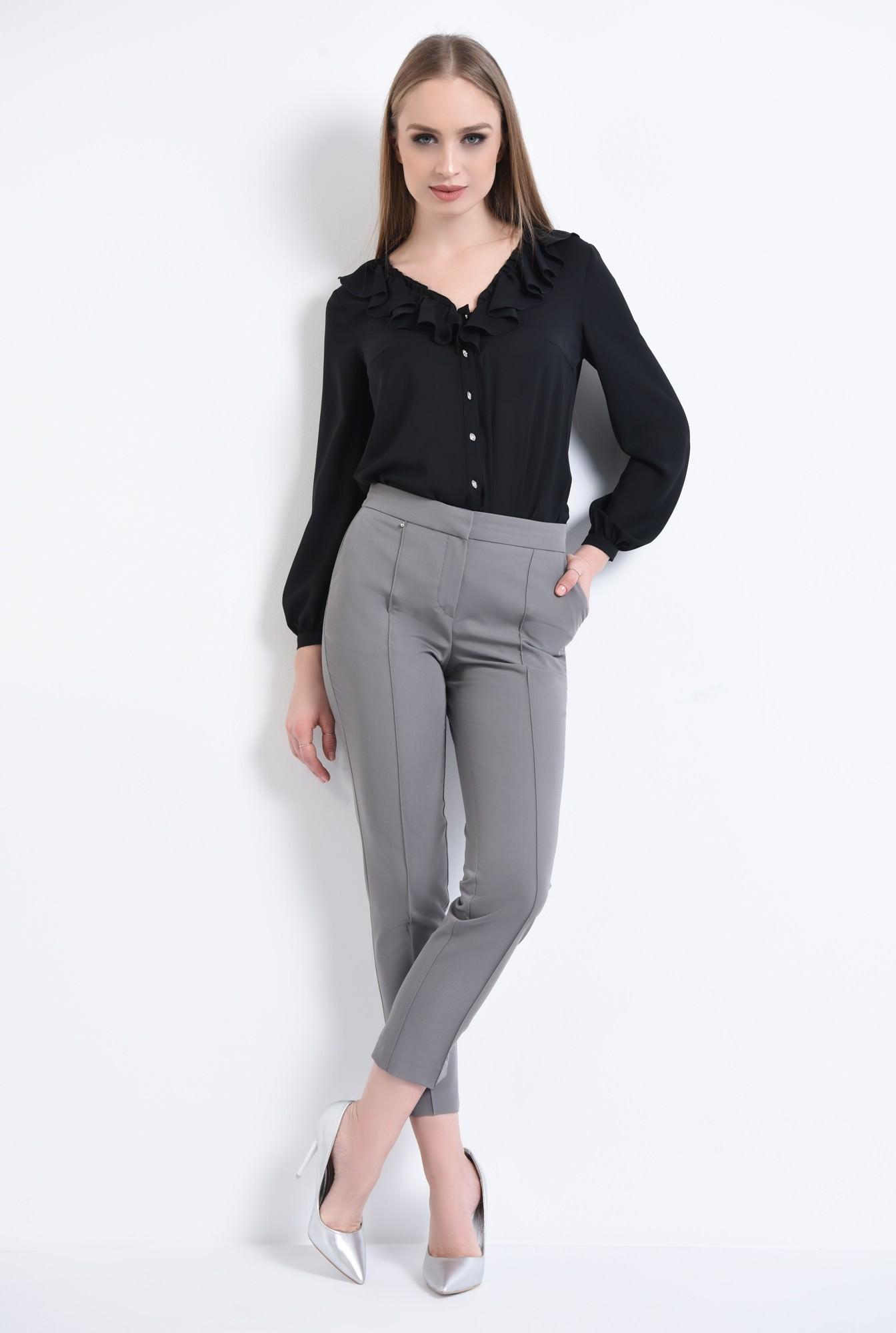 3 - Bluza casual, negru, anchior