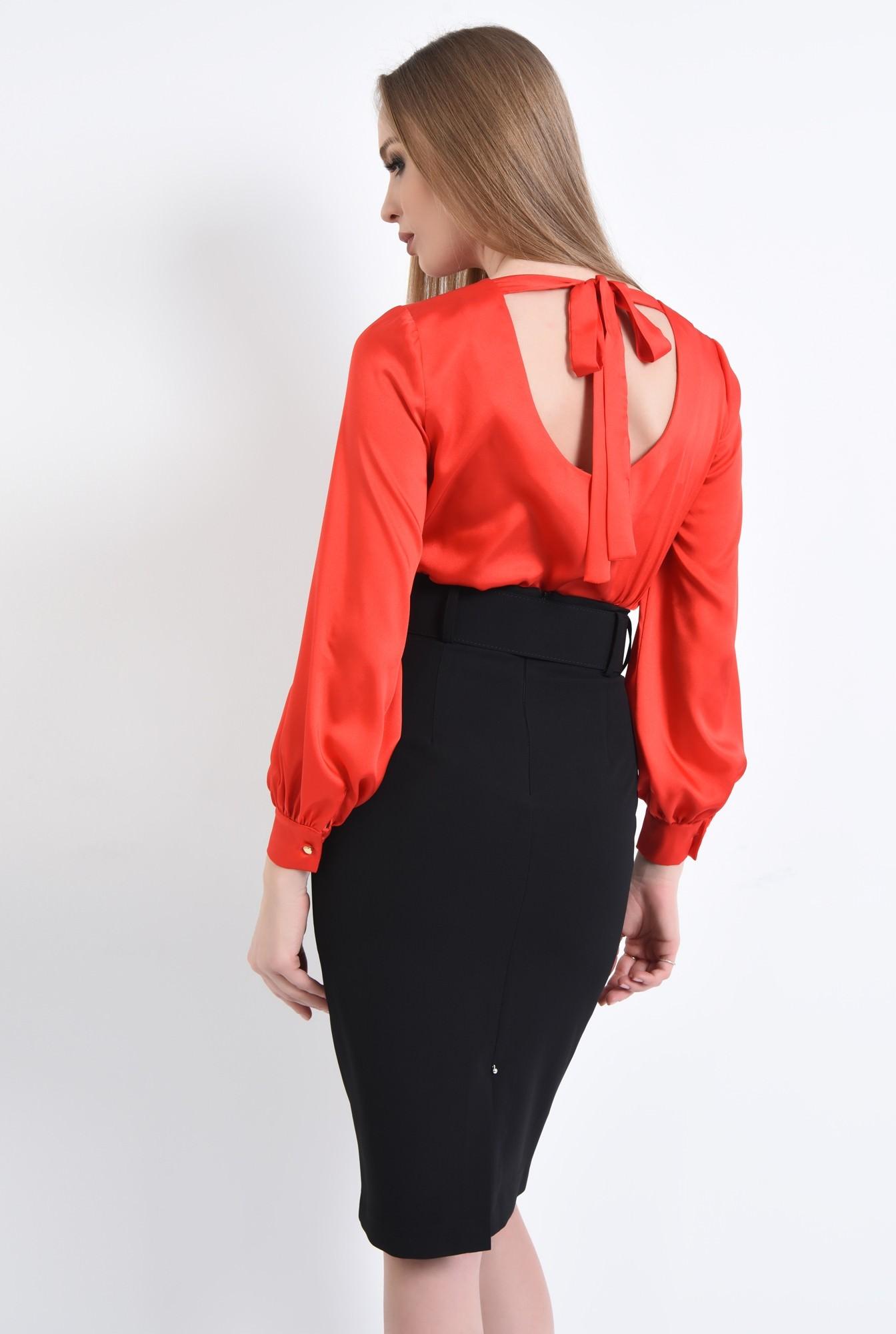 1 - Bluza eleganta, rosu, satin