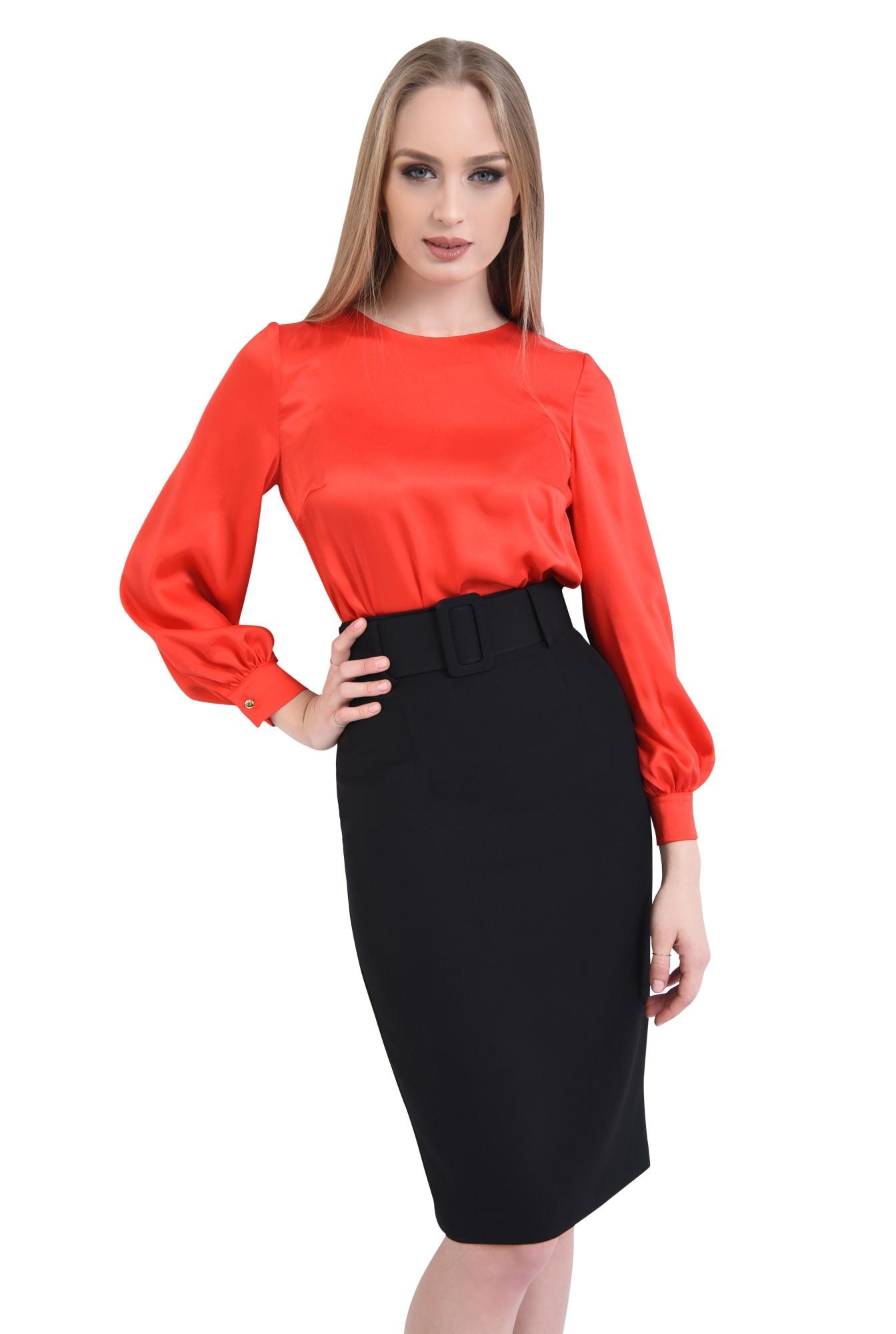 0 - Bluza eleganta, rosu, satin
