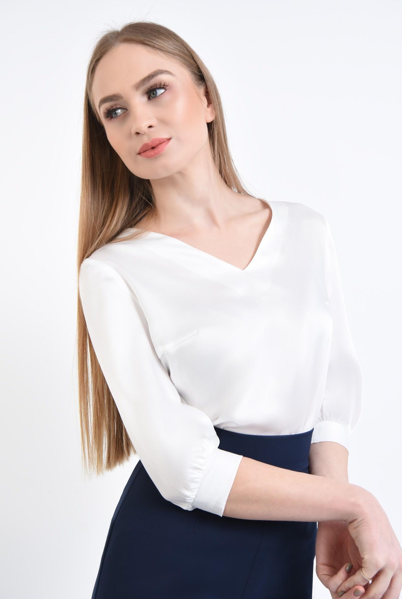 2 - 360 - Bluza eleganta ivoar, maneci midi, mansete