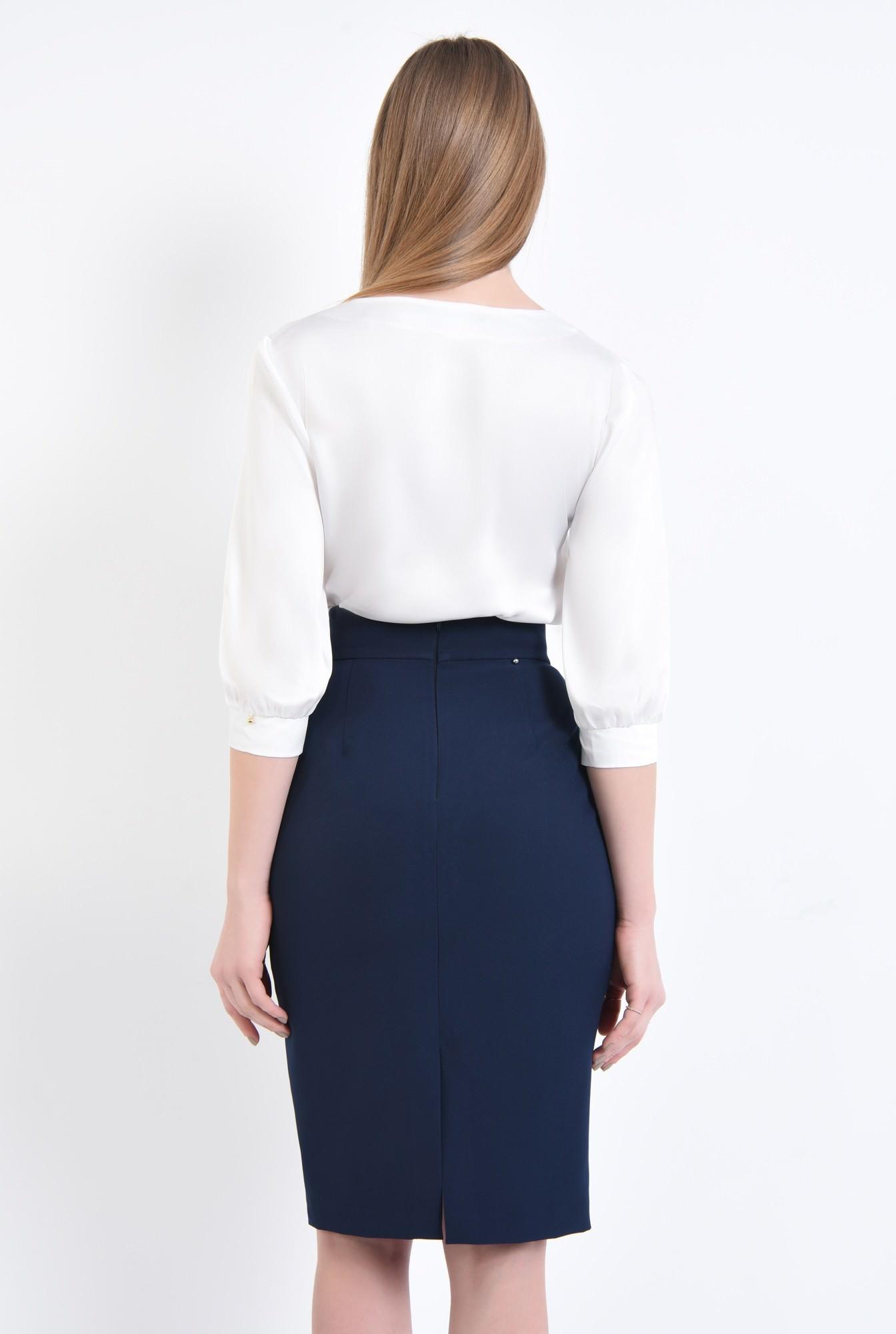 1 - 360 - Bluza eleganta ivoar, maneci midi, mansete