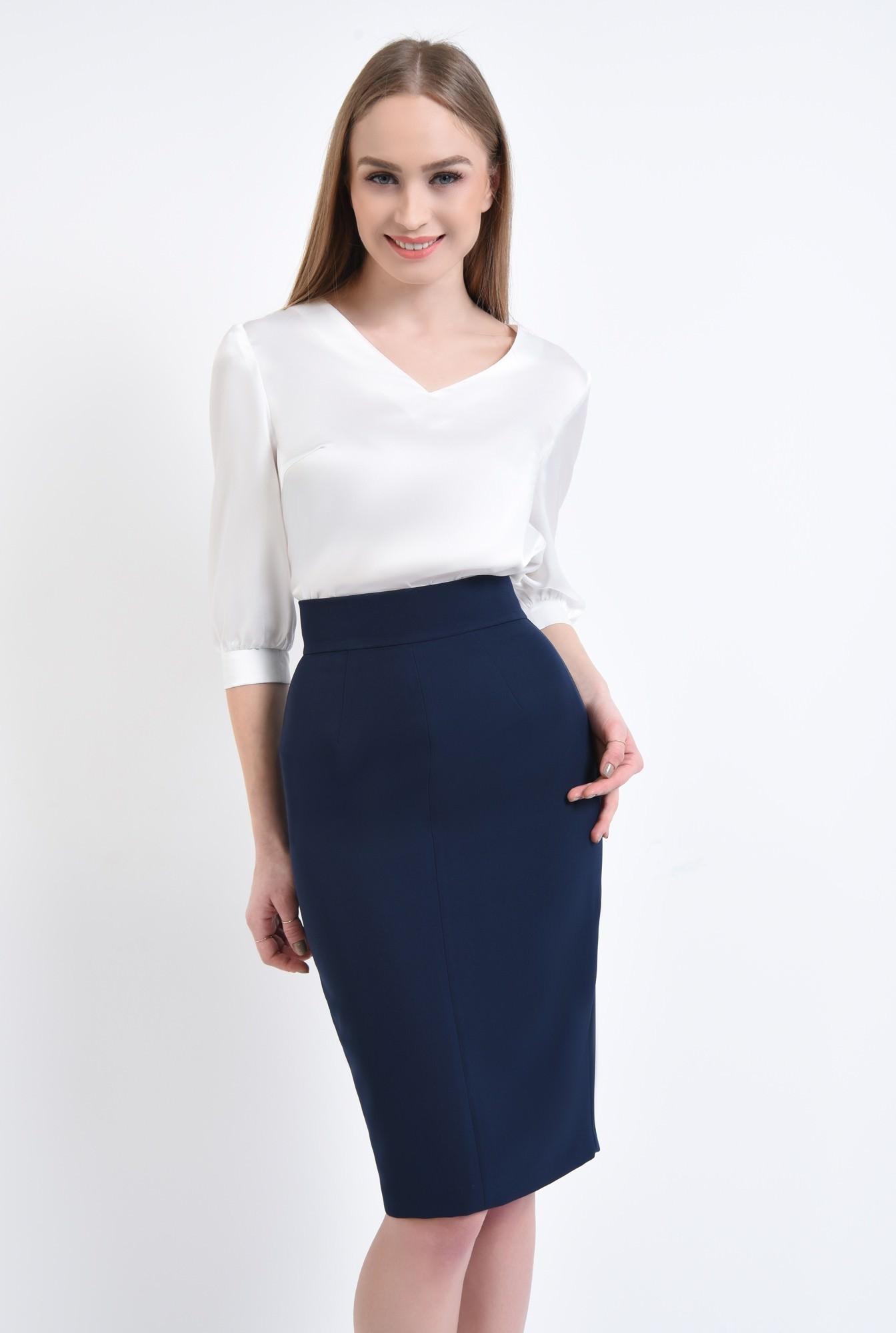 0 - 360 - Bluza eleganta ivoar, maneci midi, mansete