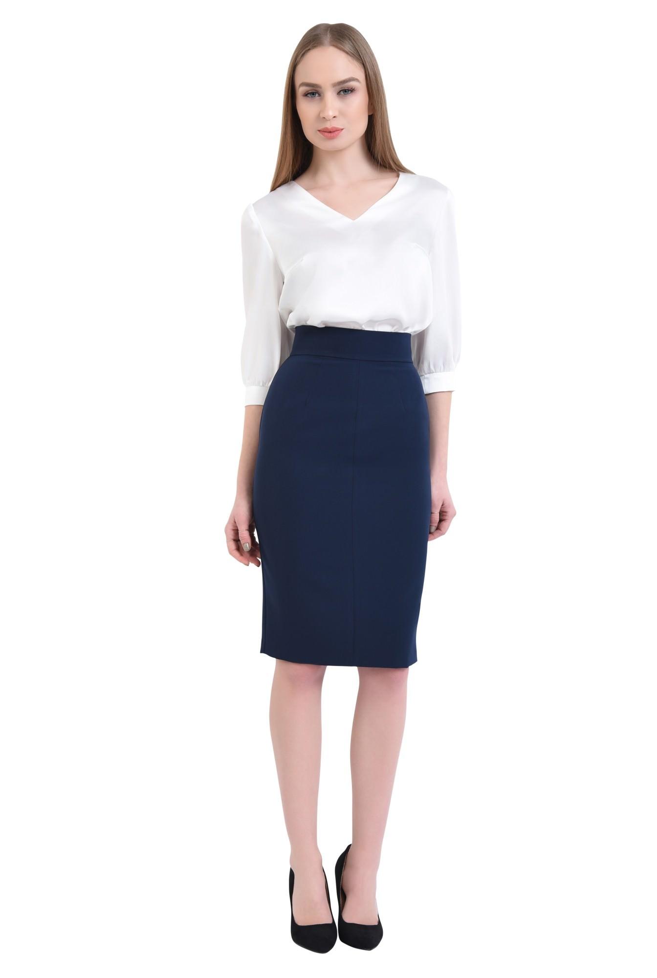 3 - 360 - Bluza eleganta ivoar, maneci midi, mansete